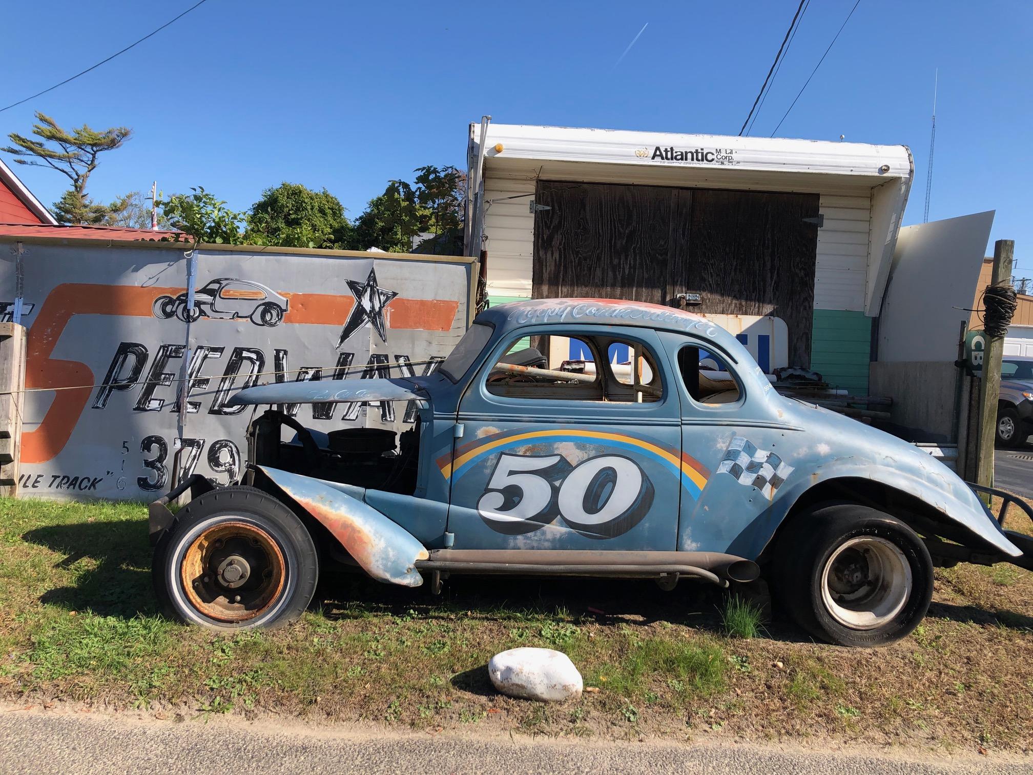 Himes Museum race car side profile