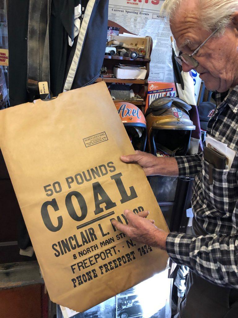 Himes Museum 50 pounds coal bag