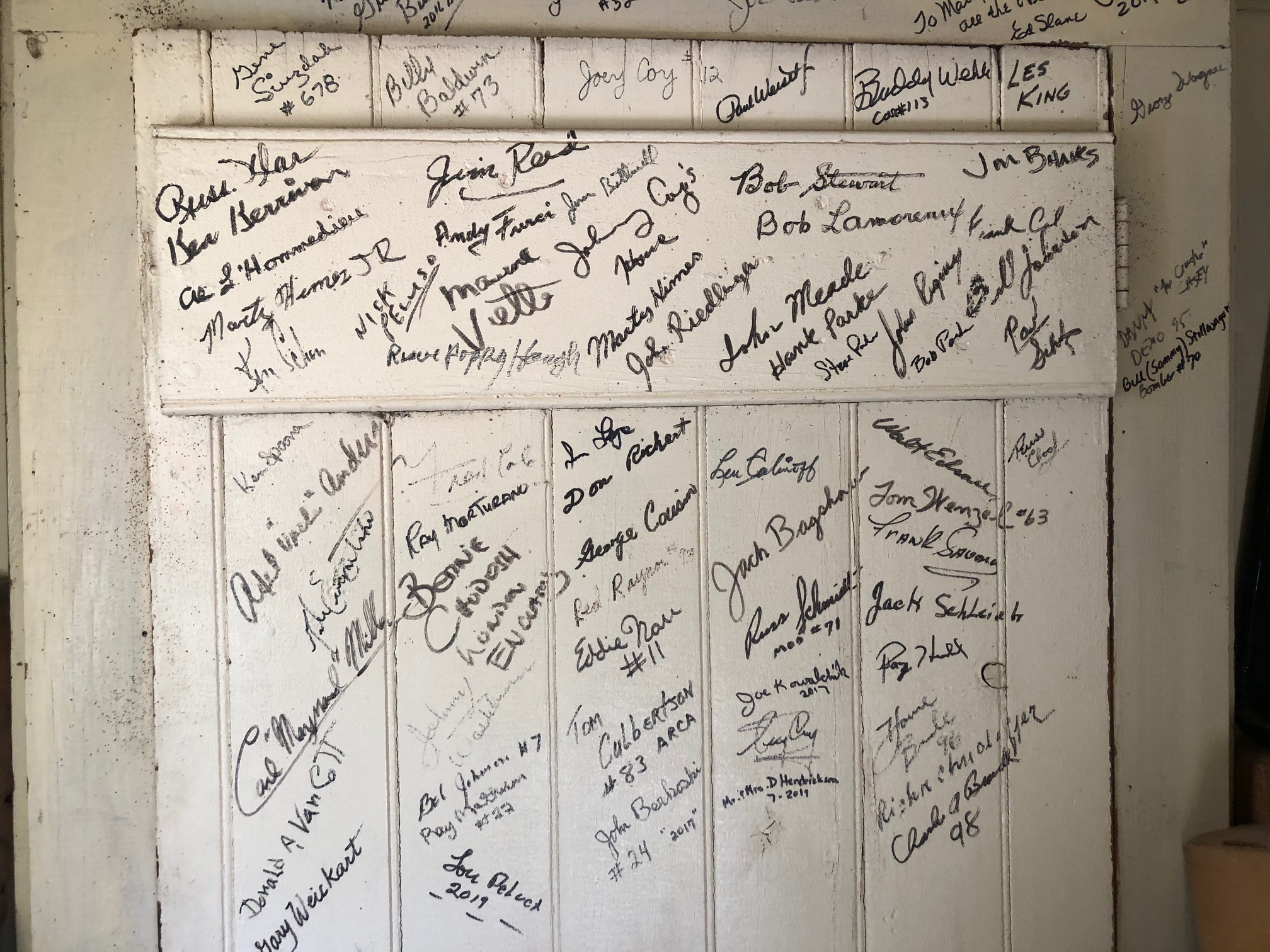 Himes Museum signature wall