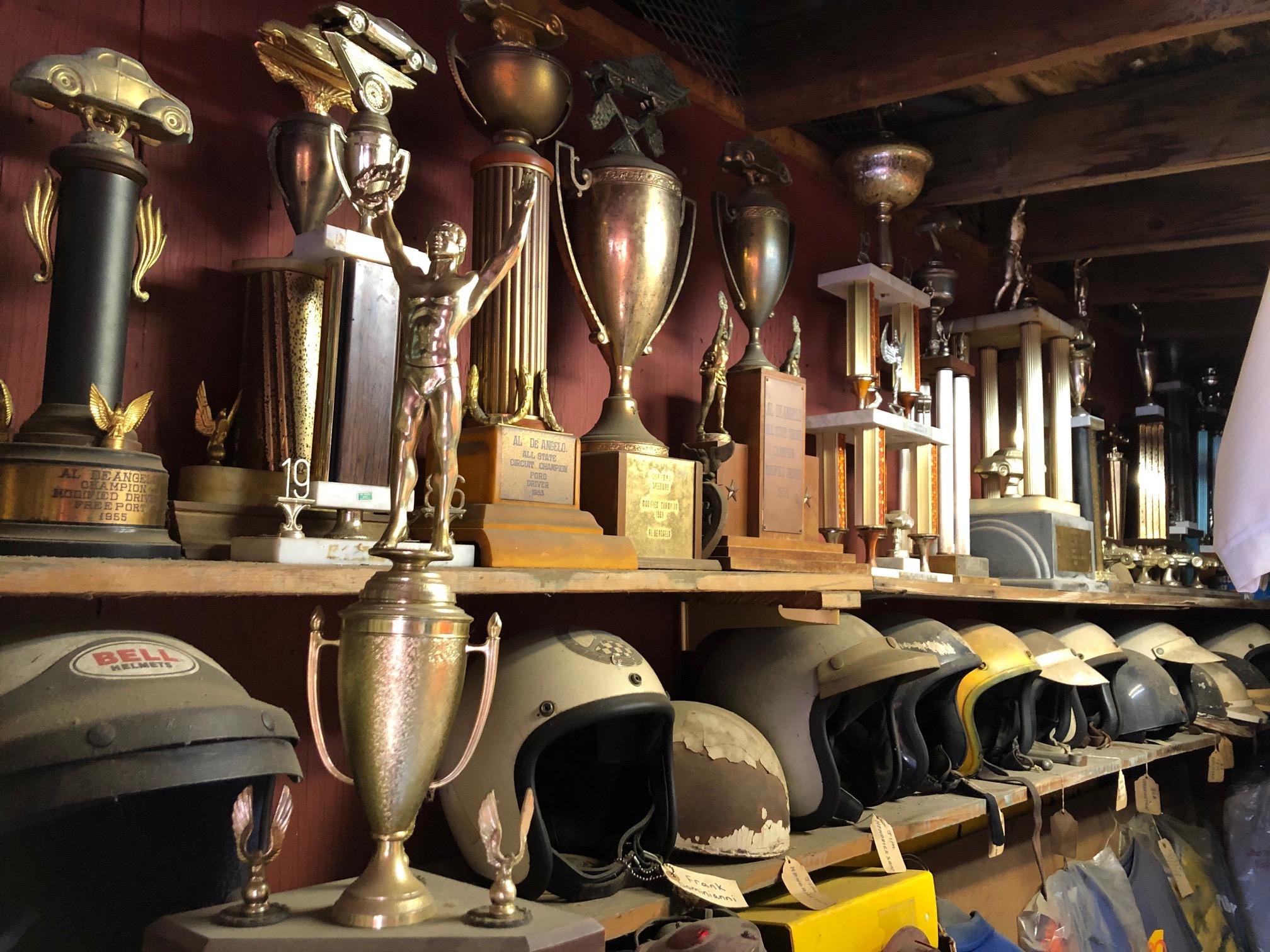 Himes Museum race trophies