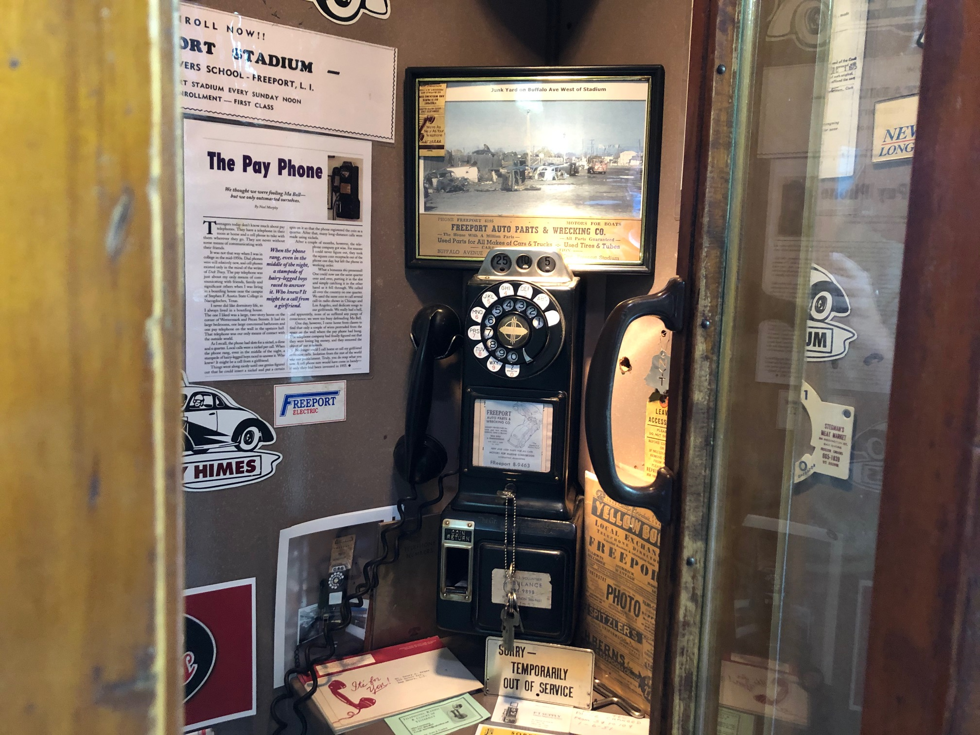 Himes Museum pay phone booth