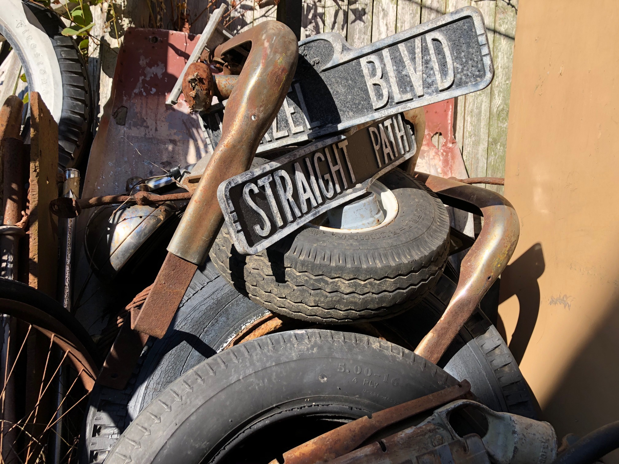 Himes Museum signs tires