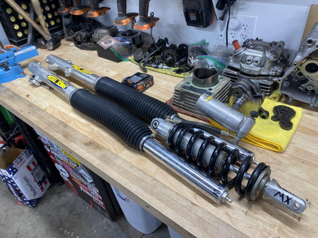 Honda XR250 suspension