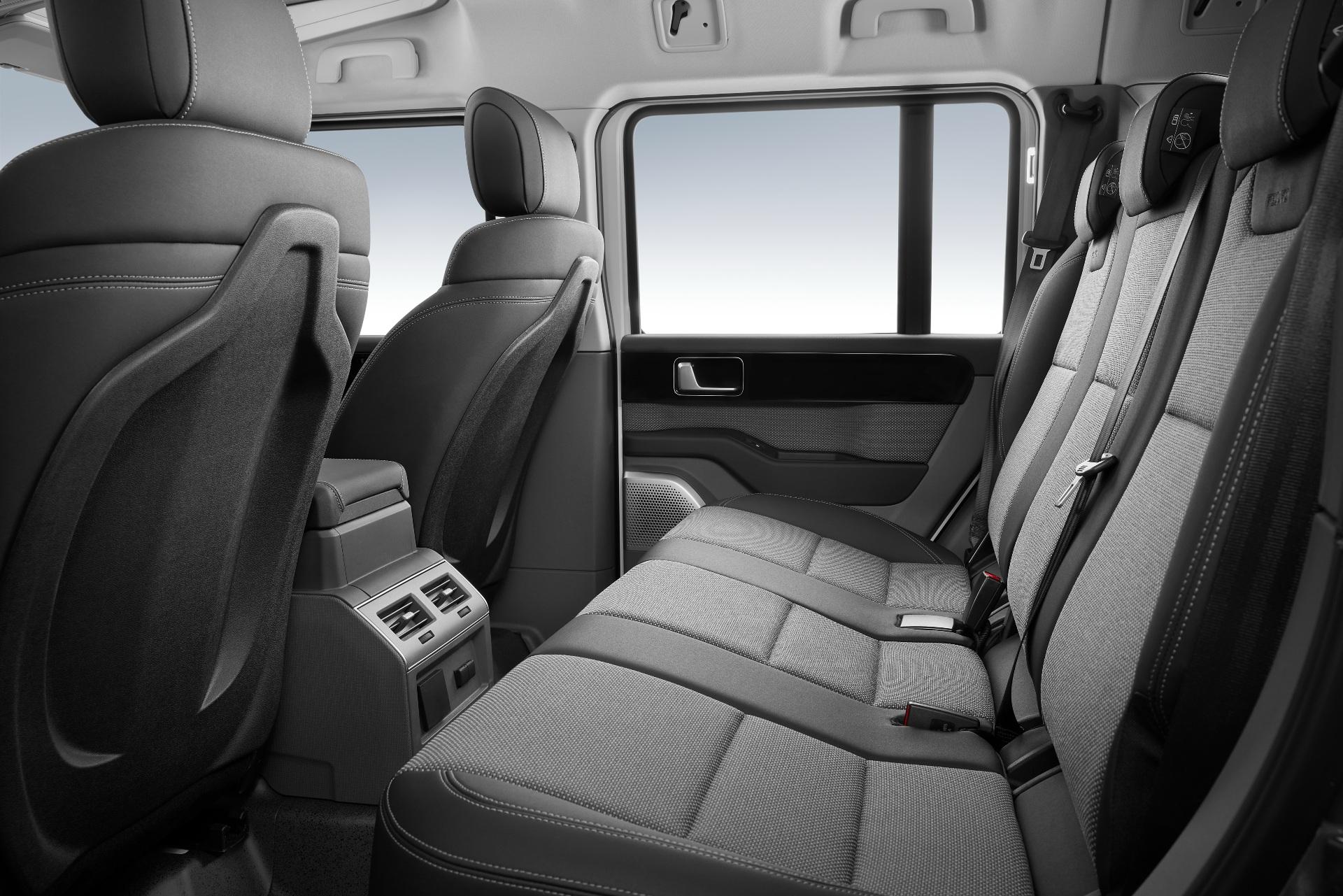 Ineos Grenadier interior rear seat