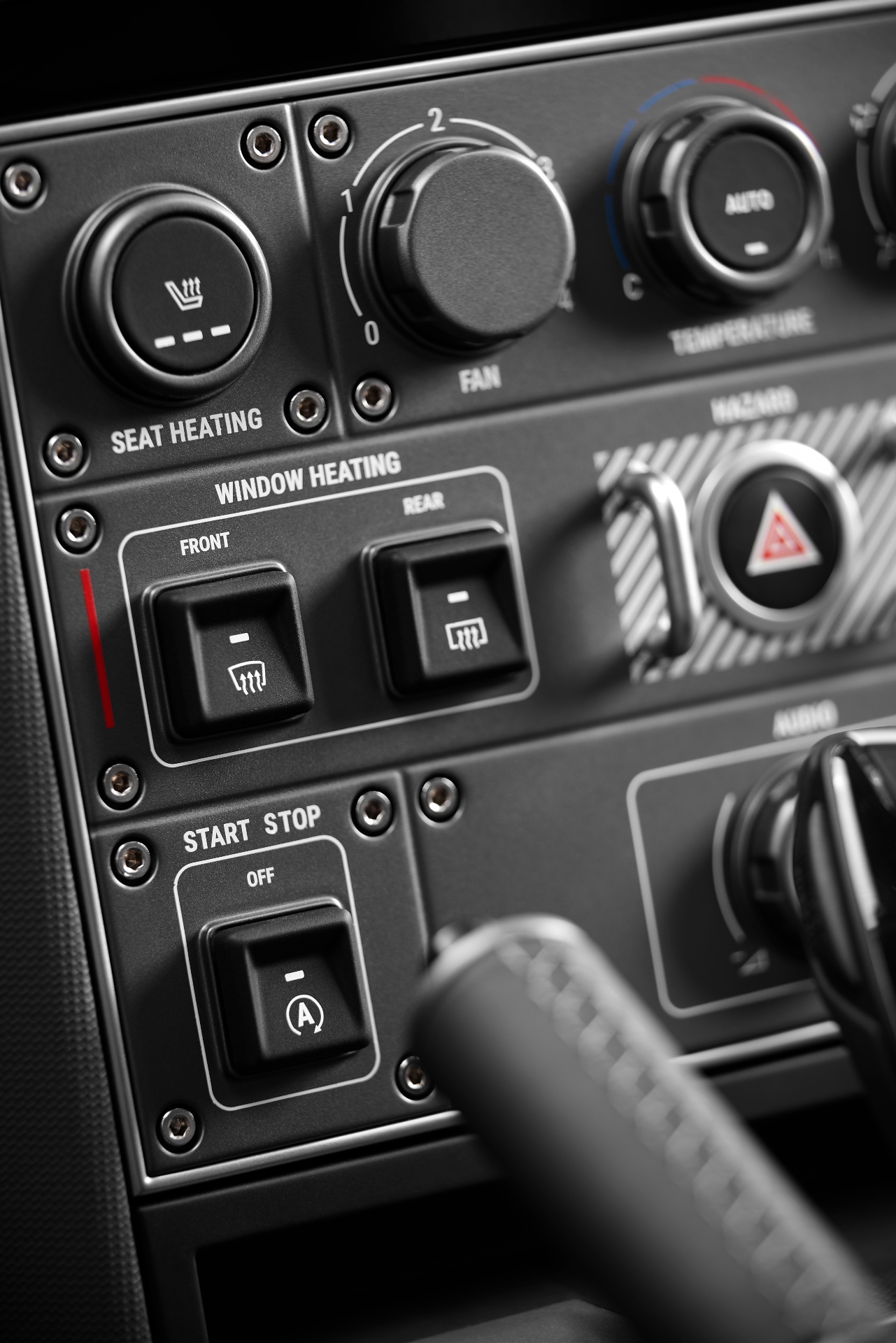 Ineos Grenadier interior gauges switches detail
