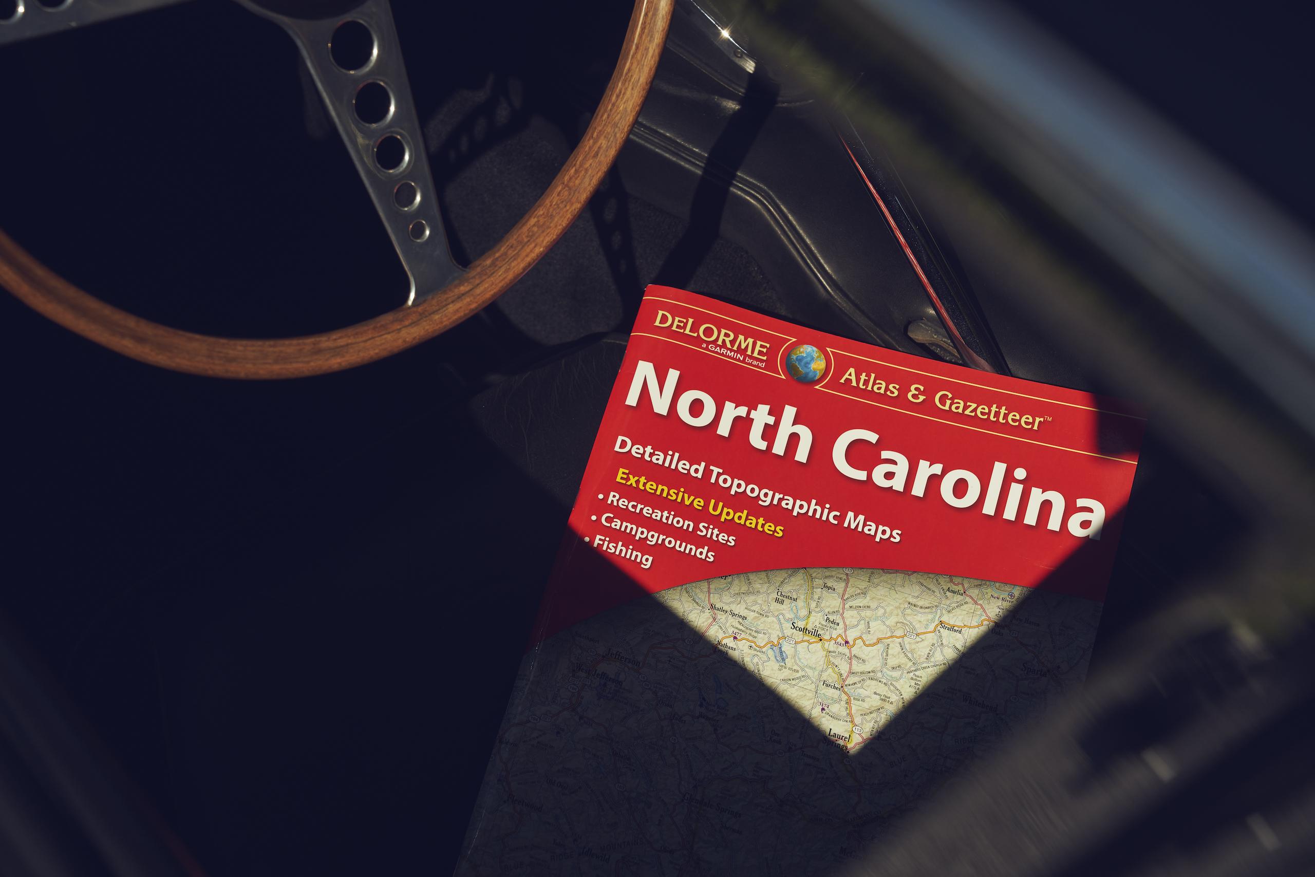Jaguar E-Type north carolina map
