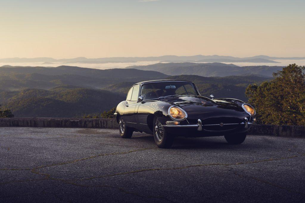 Jaguar E-Type front three-quarter view