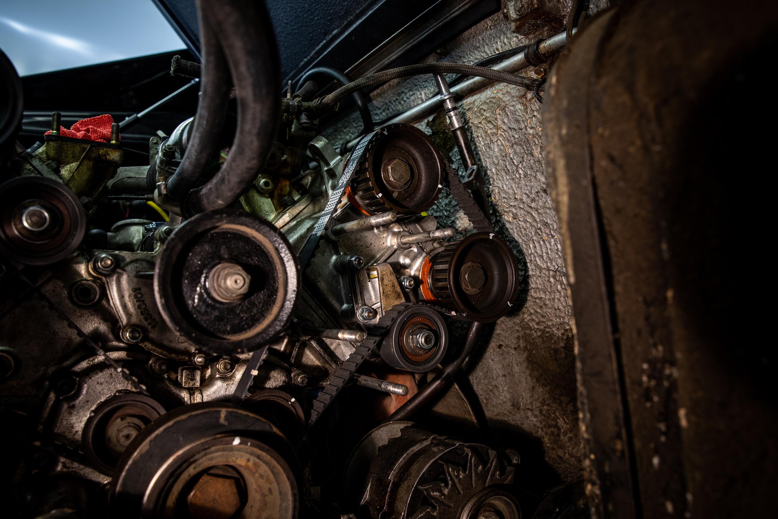 Ferrari Dino engine close