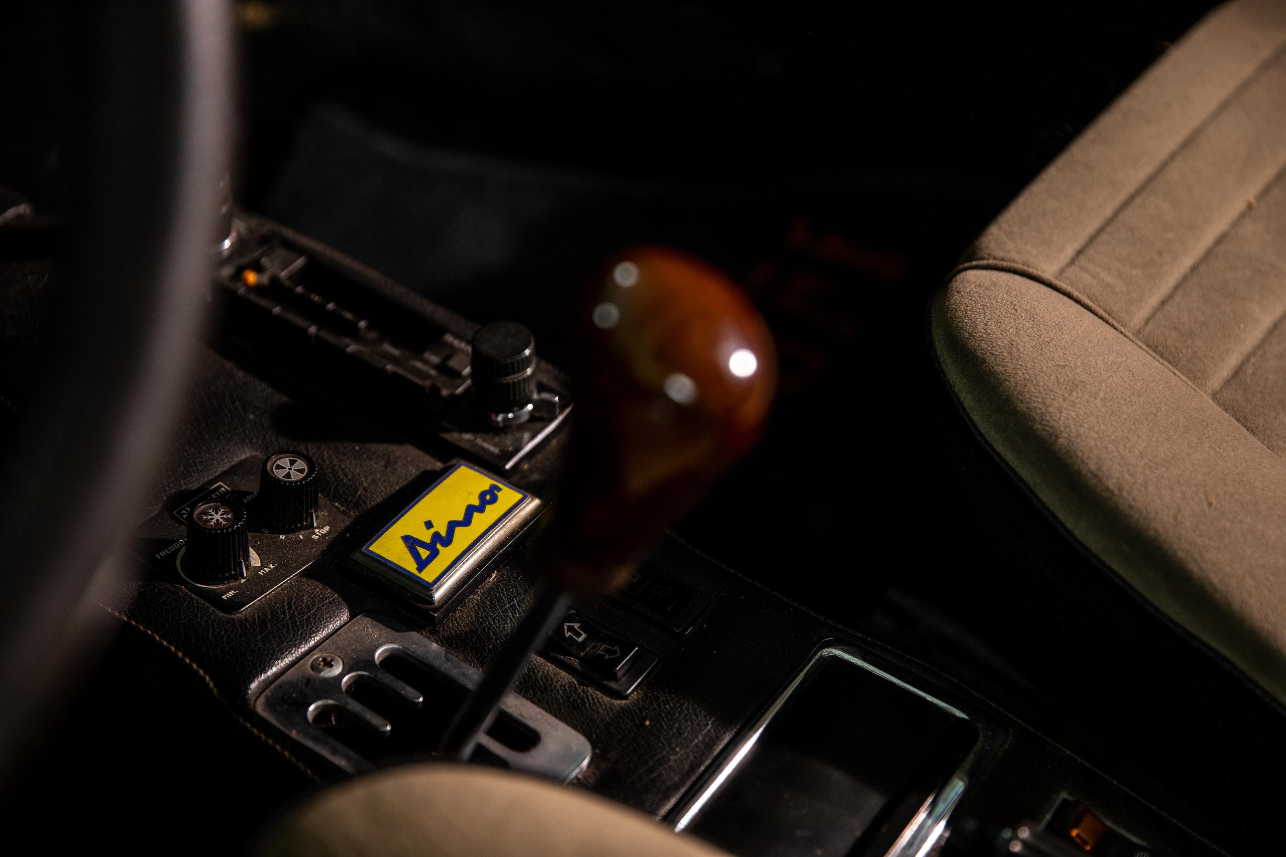 Ferrari Dino interior console badge