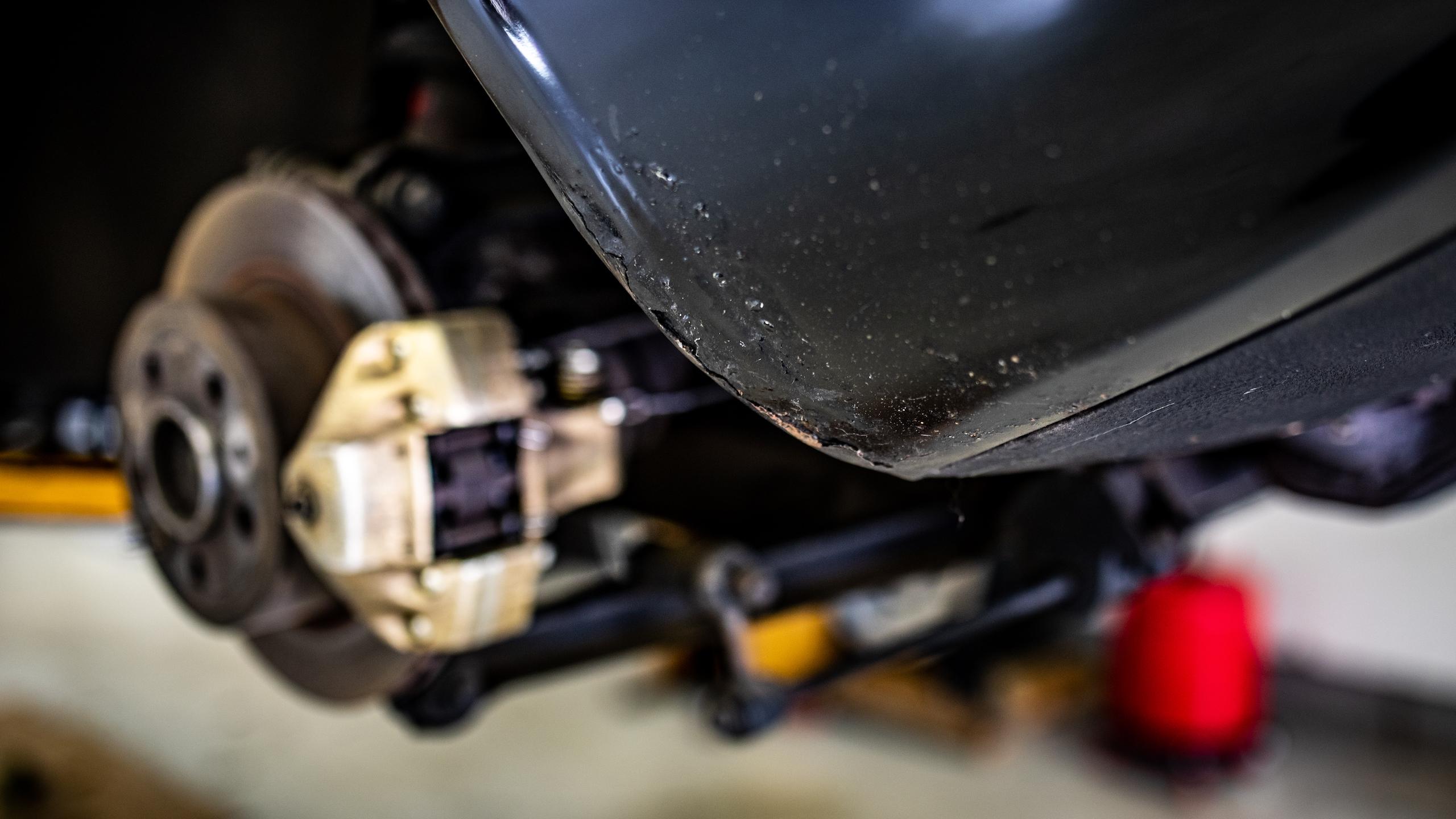 Ferrari Dino fender bubbling rust corrosion