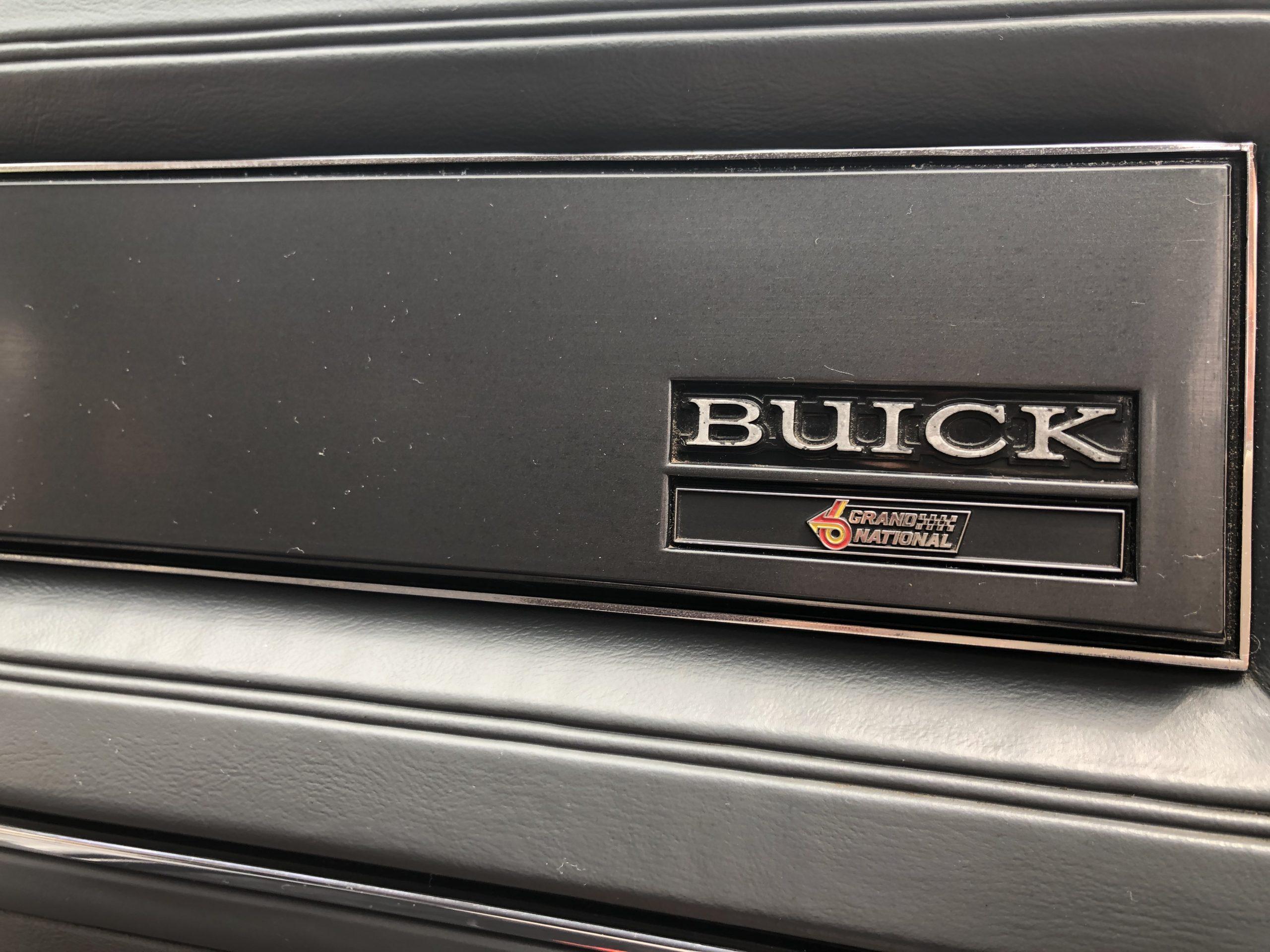 1987 Buick Grand National interior dash