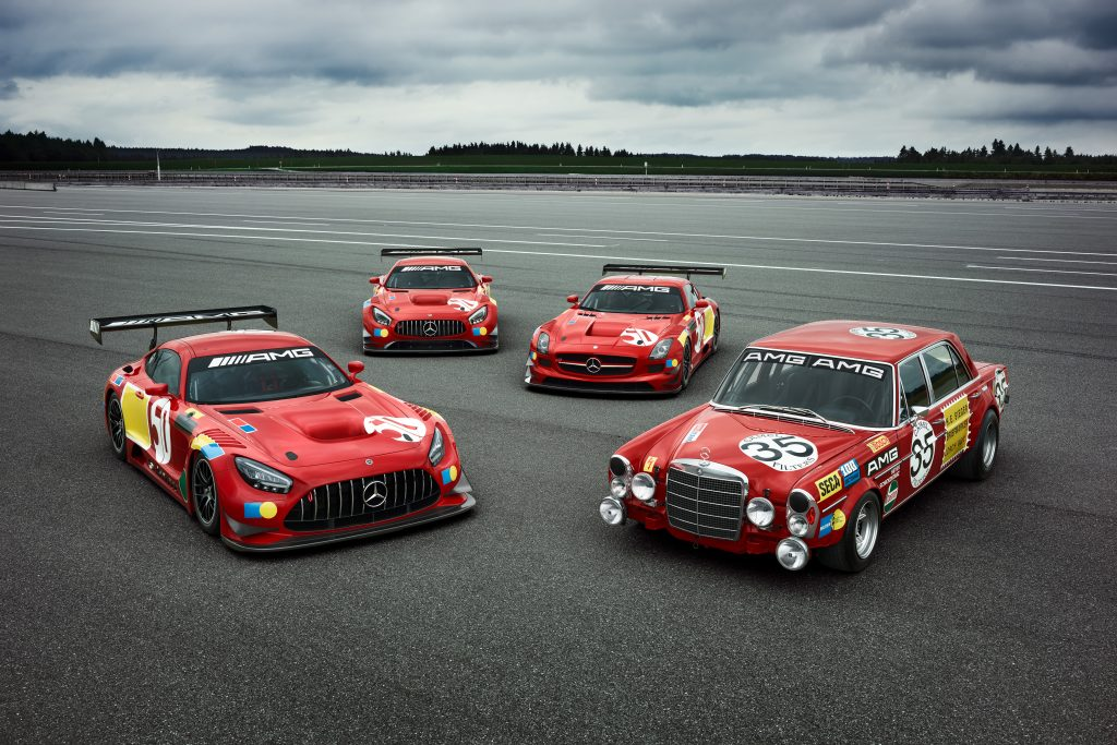 Mercedes-Benz Red Pig lookalikes 50 year Spa anniversary special editions AMG