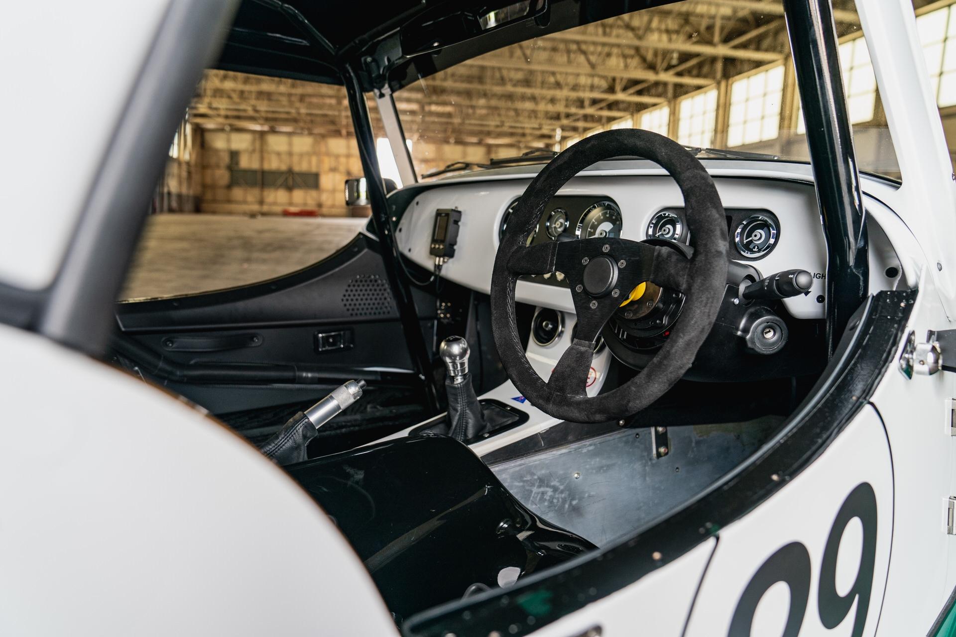 Morgan Plus Four racer cockpit