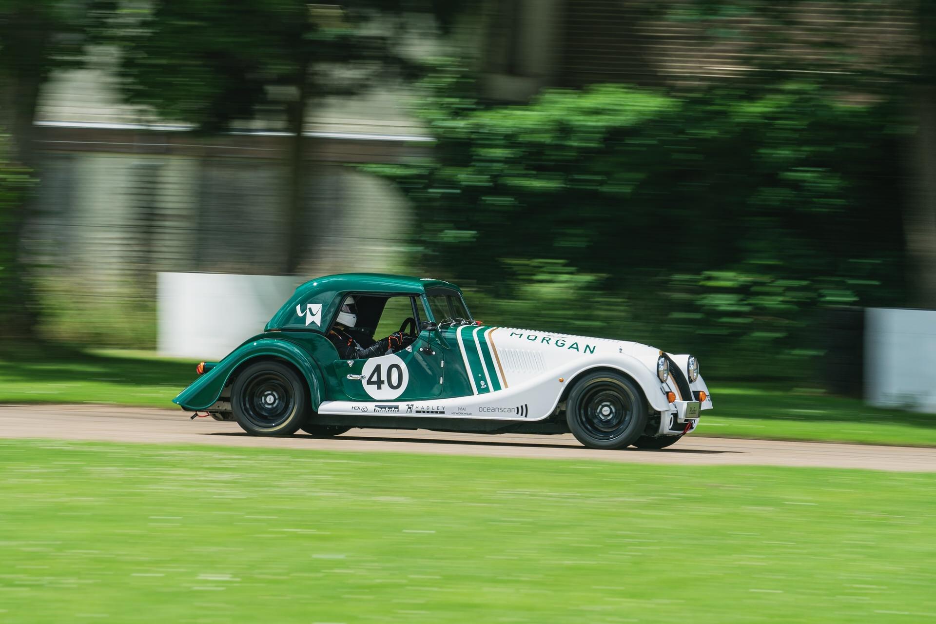 Morgan Plus Four racer action