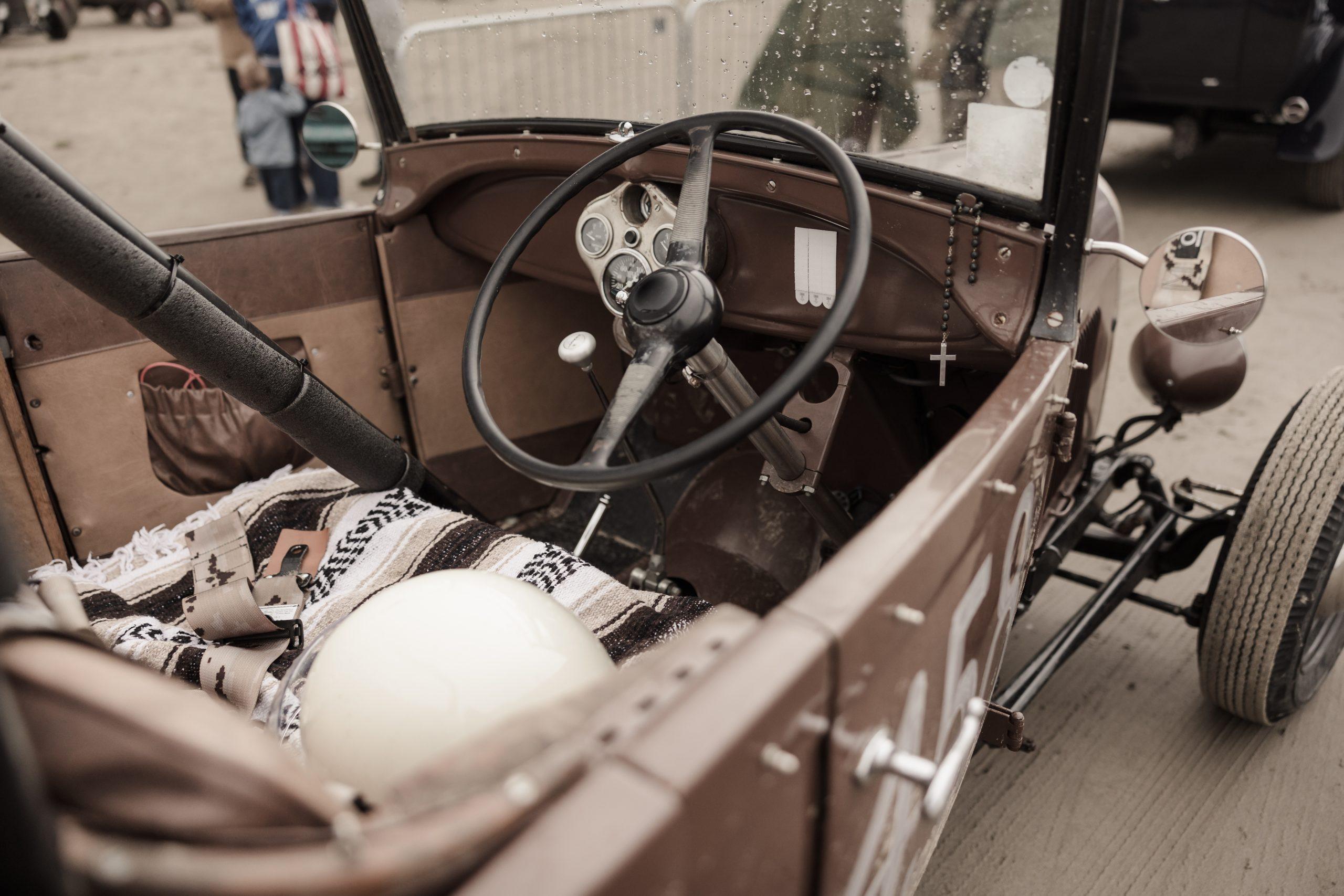 Pendine Sands hot rod racer interior