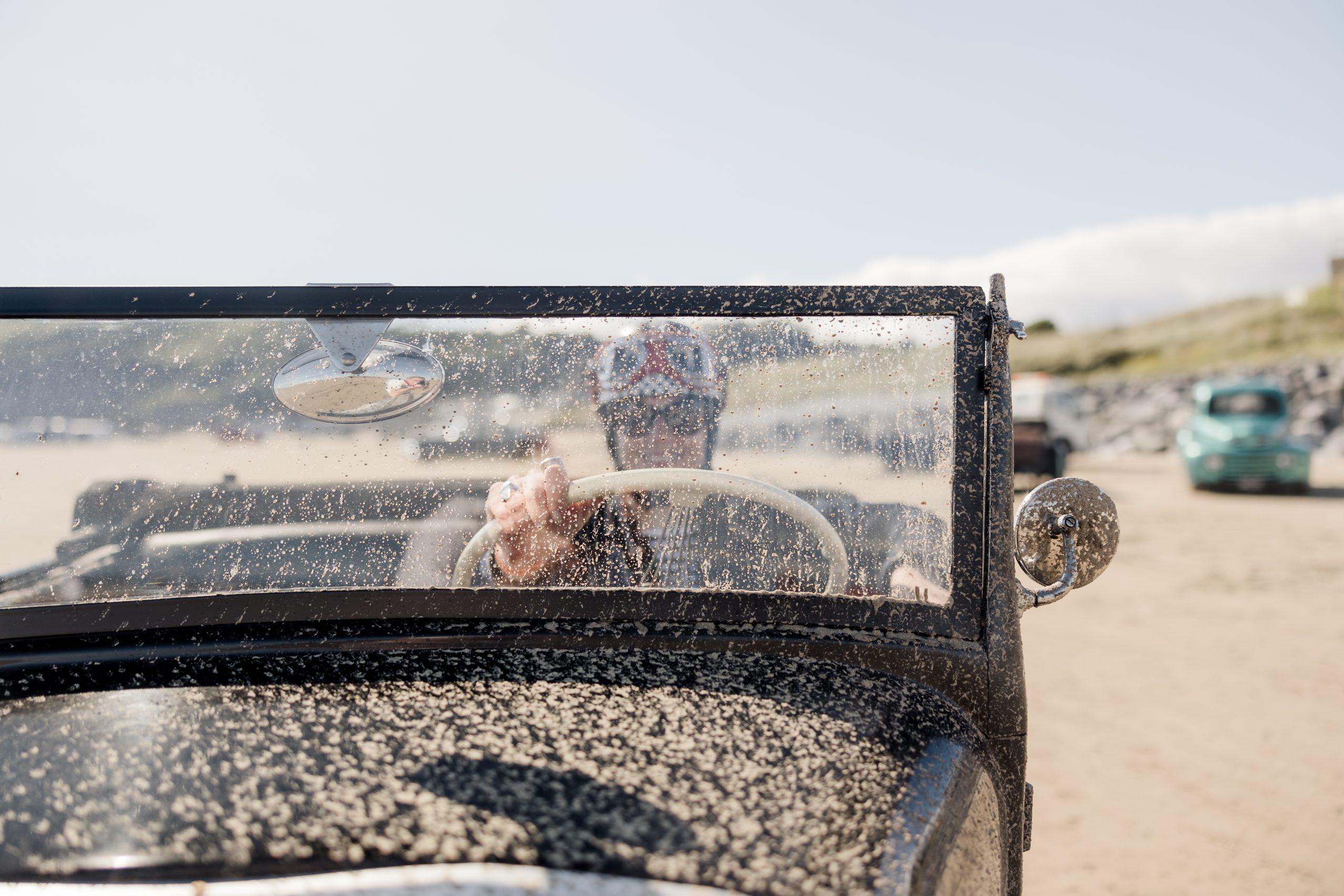 Pendine Sands hot rod racer front