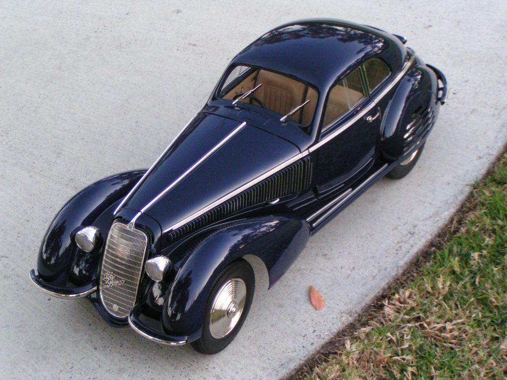 Alfa 38 scale model overhead