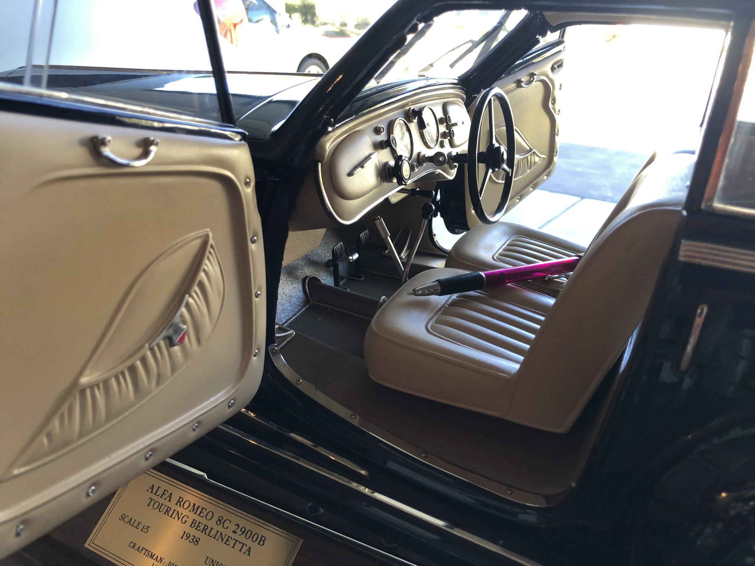 Alfa 38 scale model interior