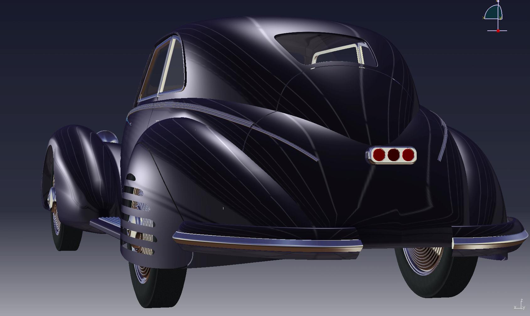 Alfa scale model cad drawing rear
