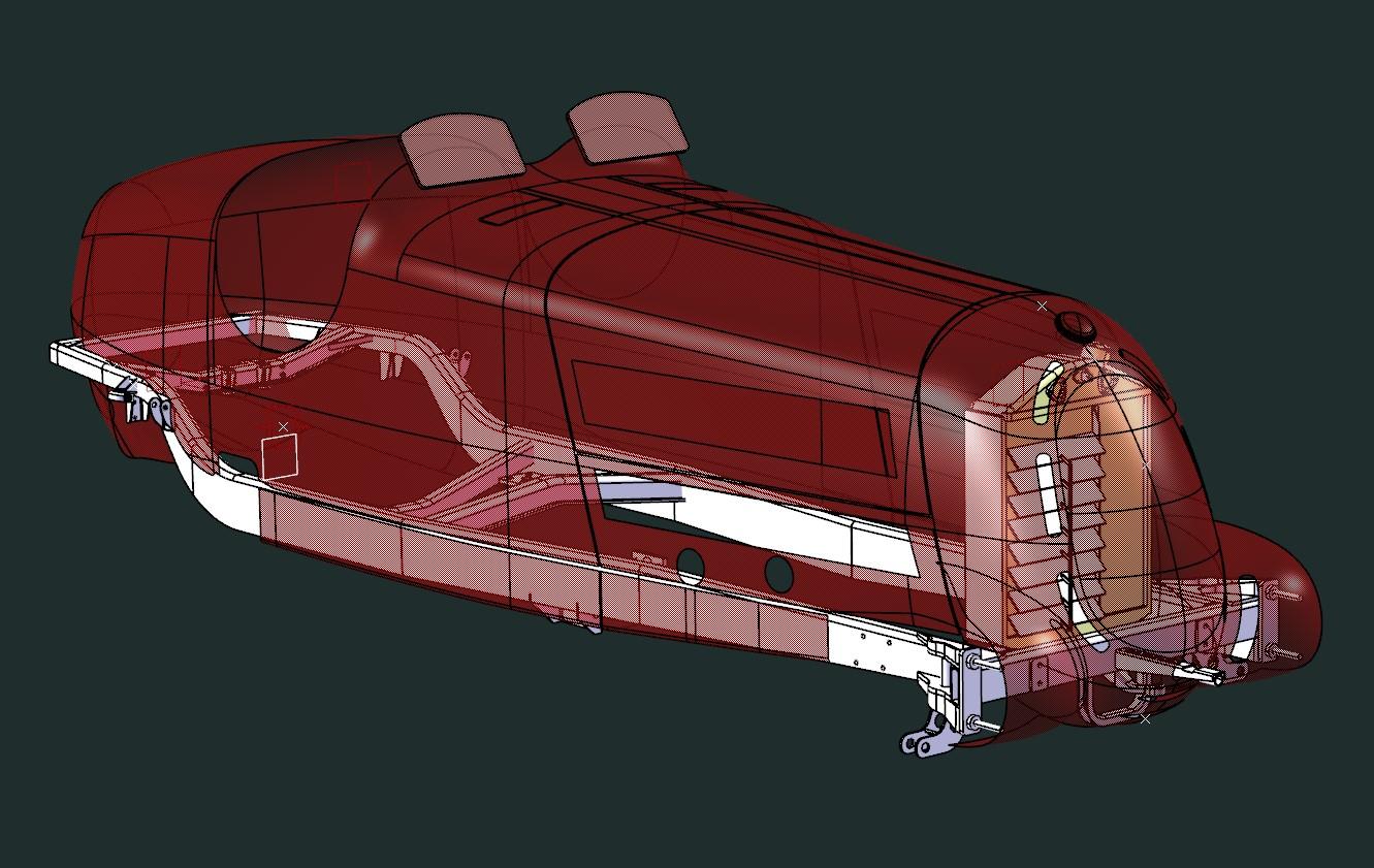 Alfa scale model cad