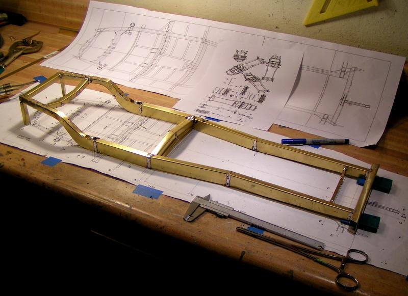 Alfa scale model blueprint and frame