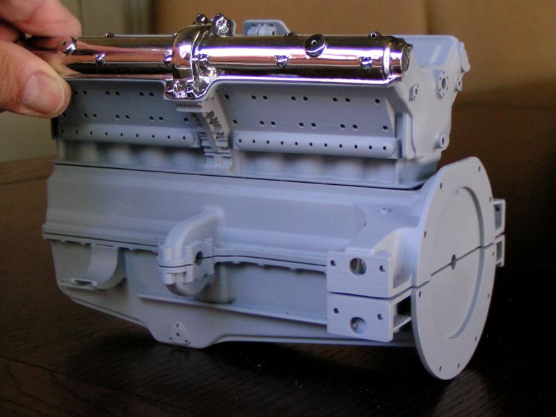 Alfa scale model crankcase