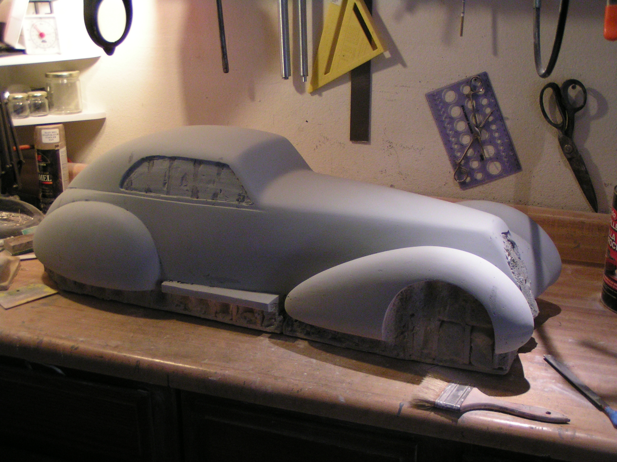 Alfa scale model mold body shape