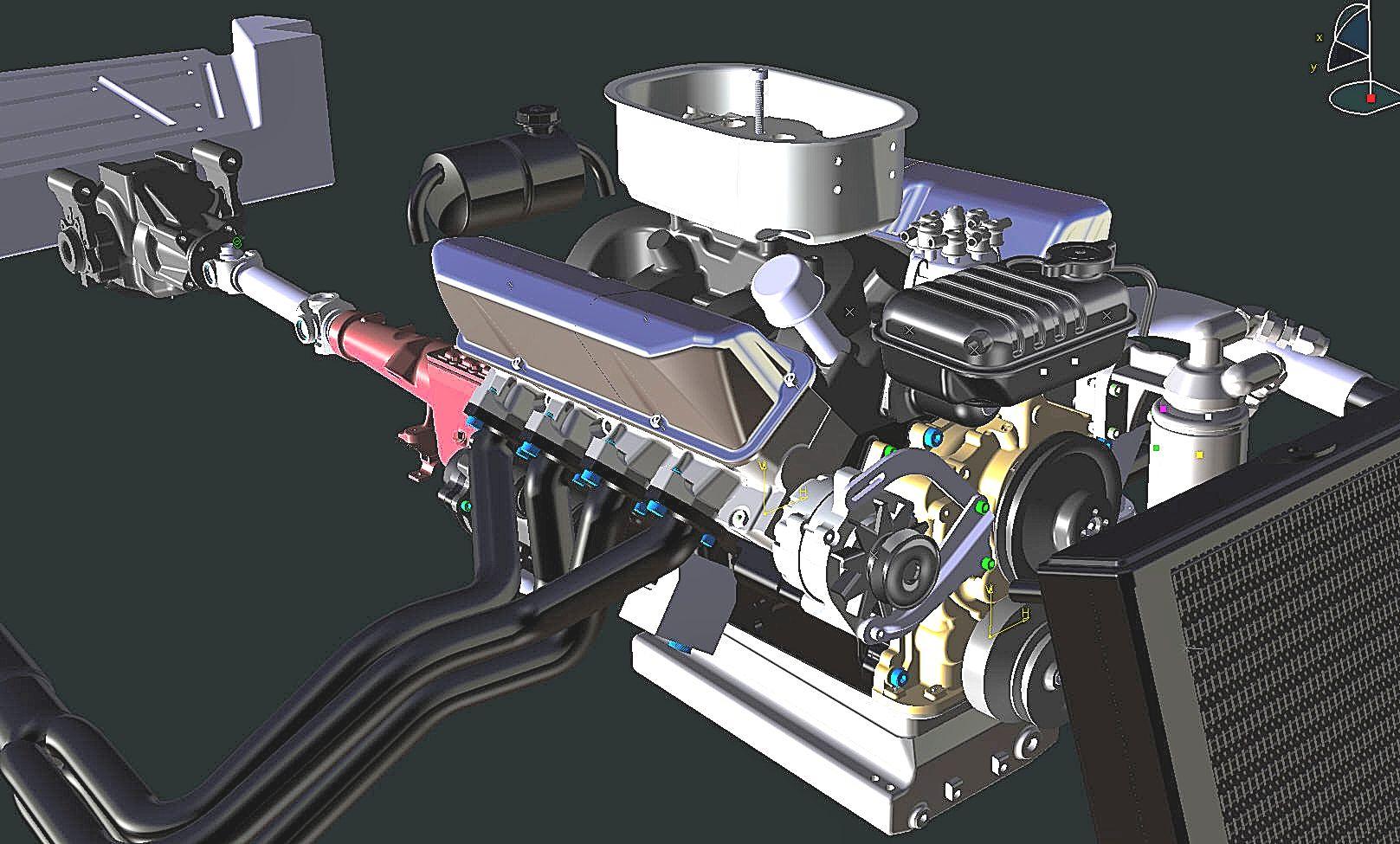 Essex Cobra scale model cad engine