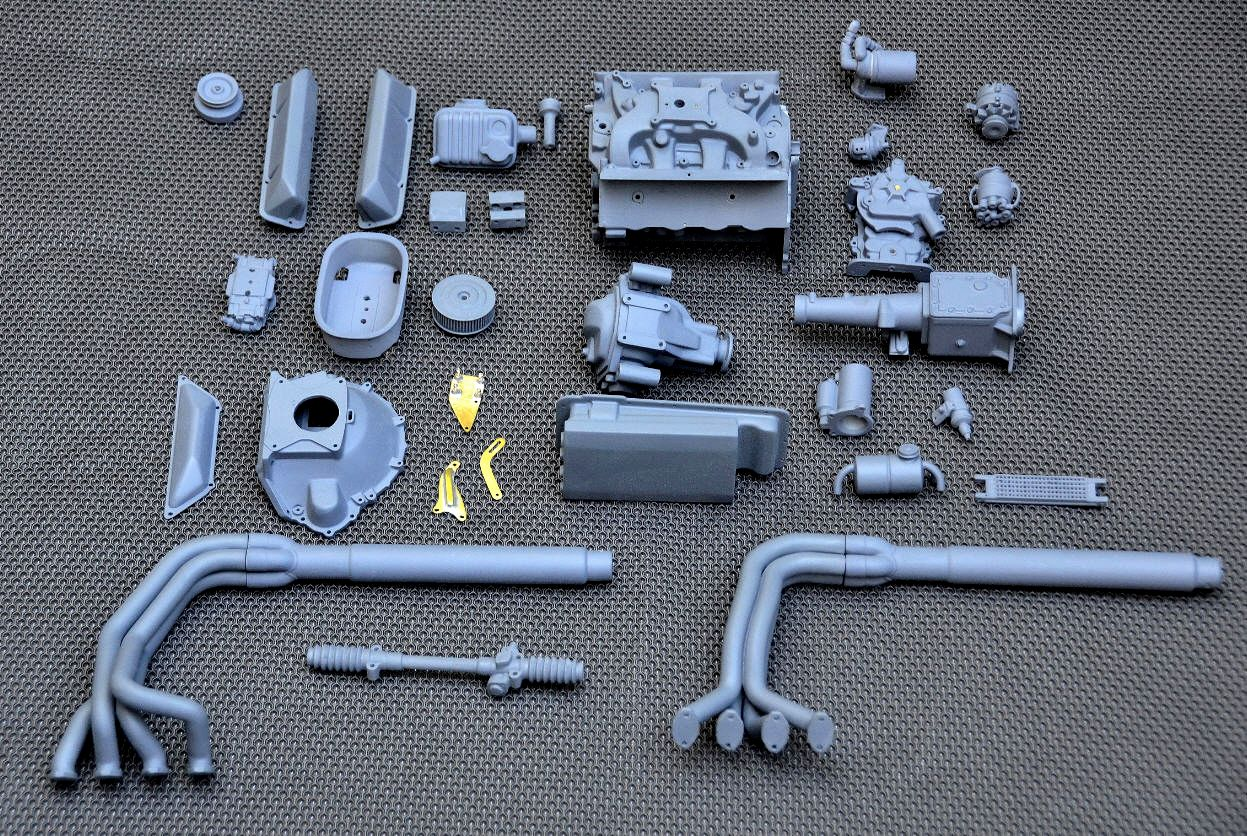 Essex Cobra scale model engine parts