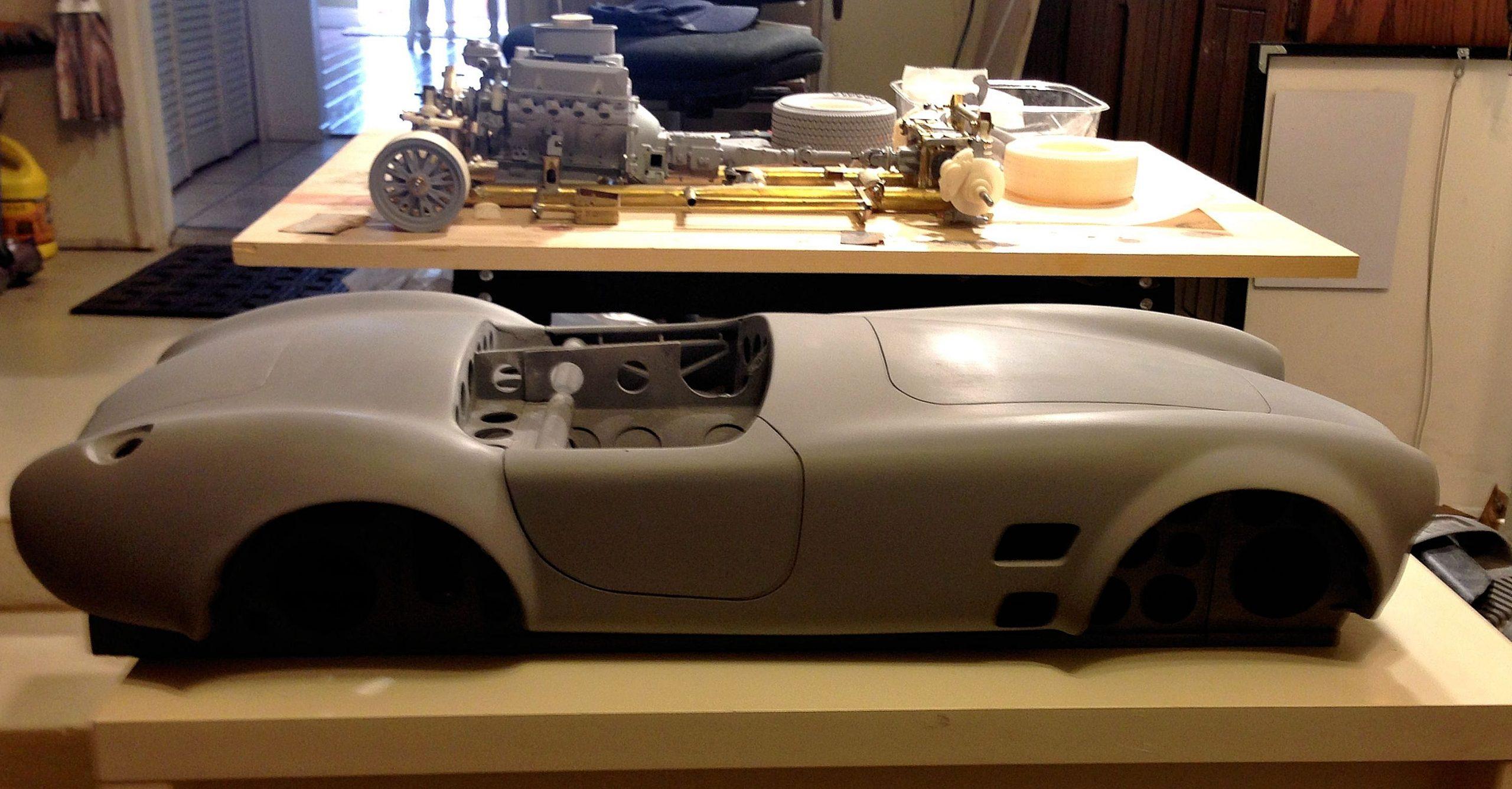 Essex Cobra scale model body mold