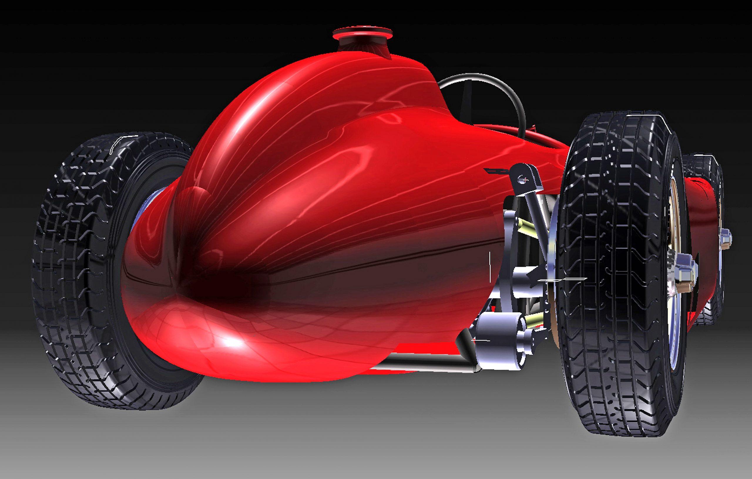 ferrari scale model rendering rear