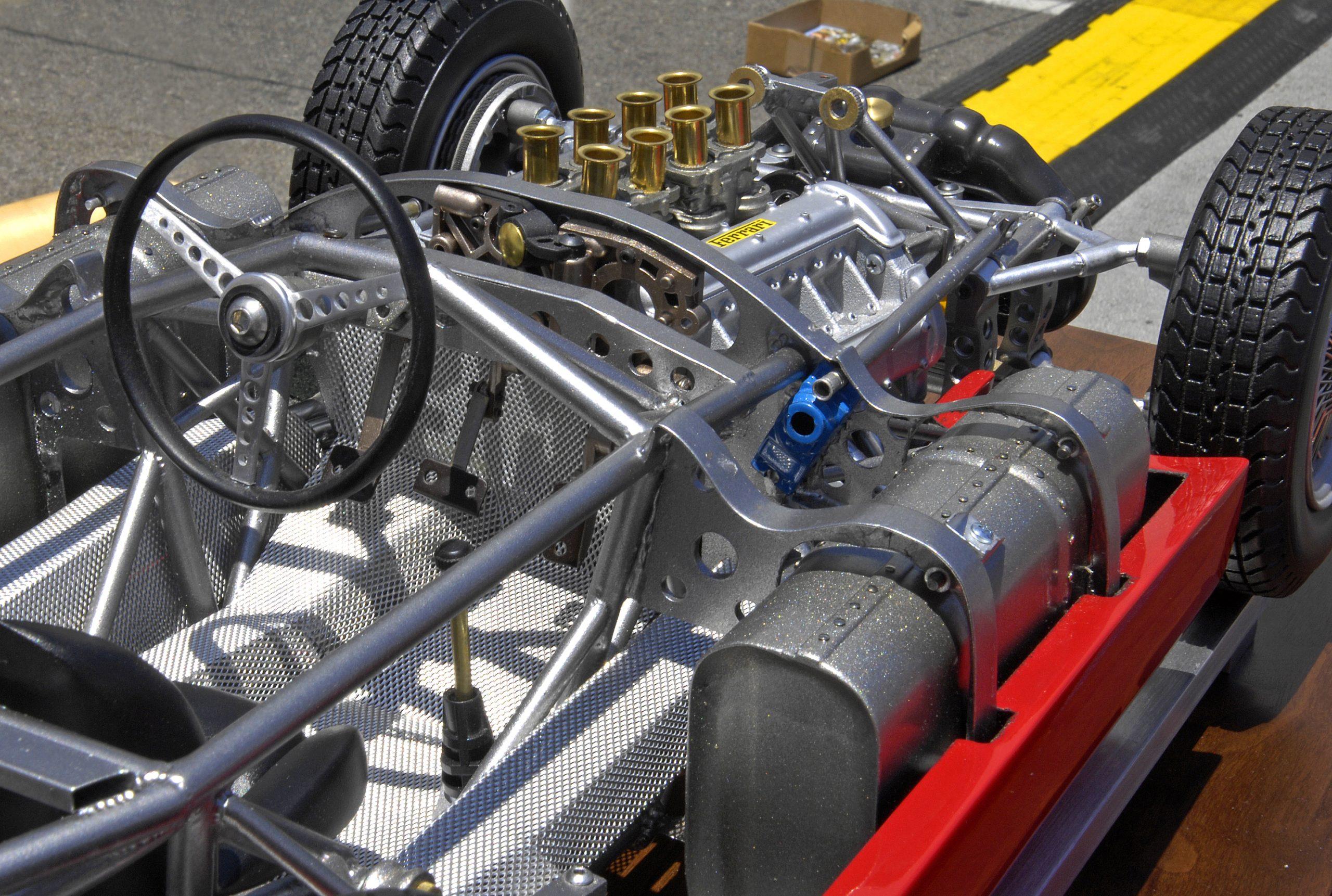 ferrari scale model engine chassis