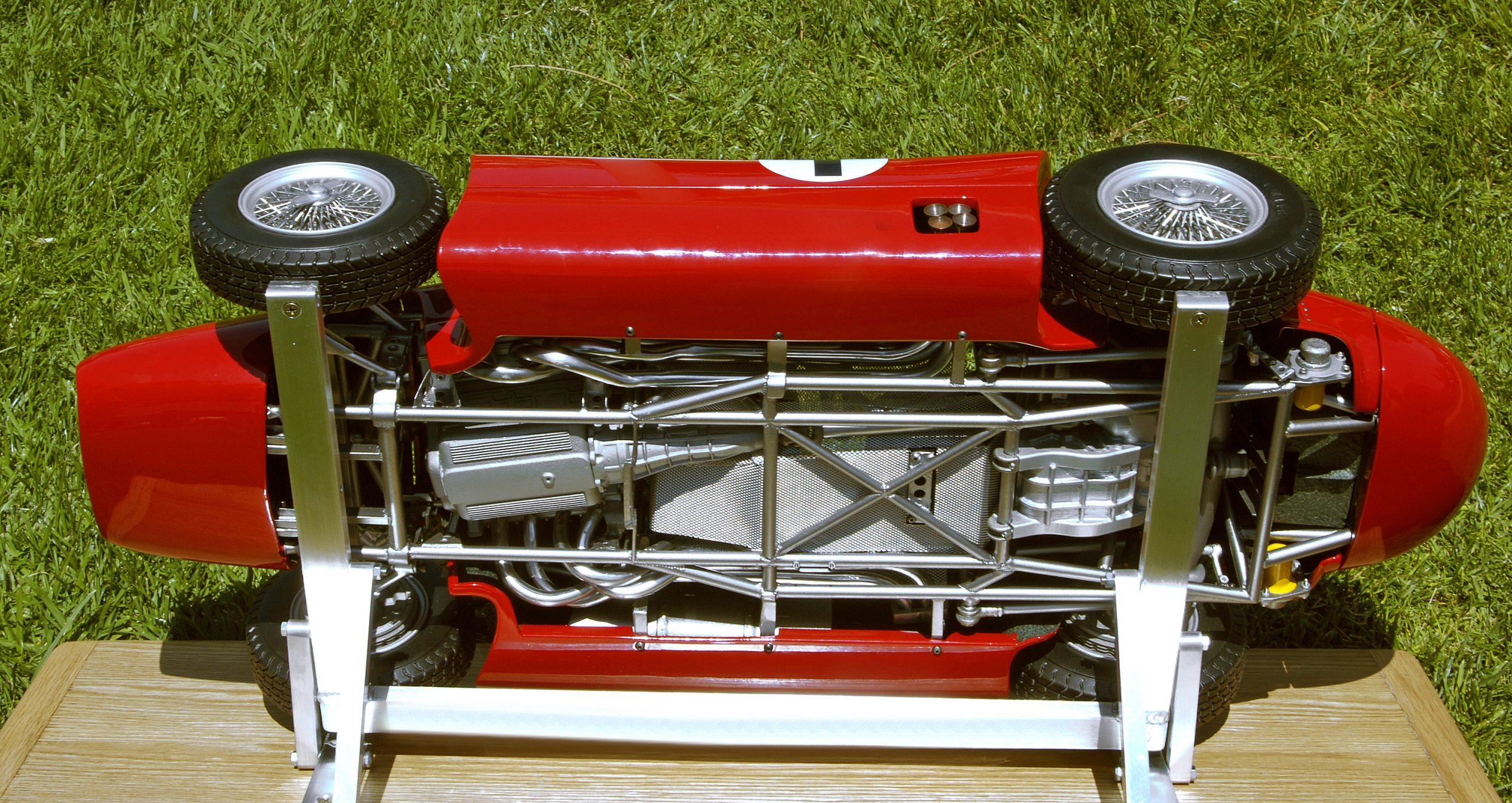 ferrari scale model underside chassis