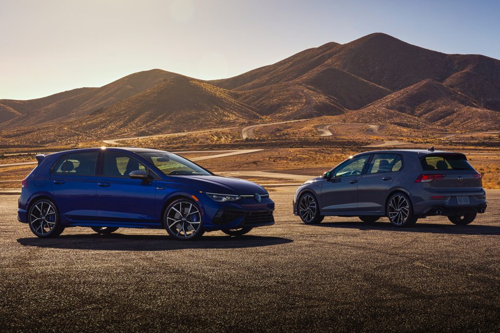 2022 VW GTI and Golf R