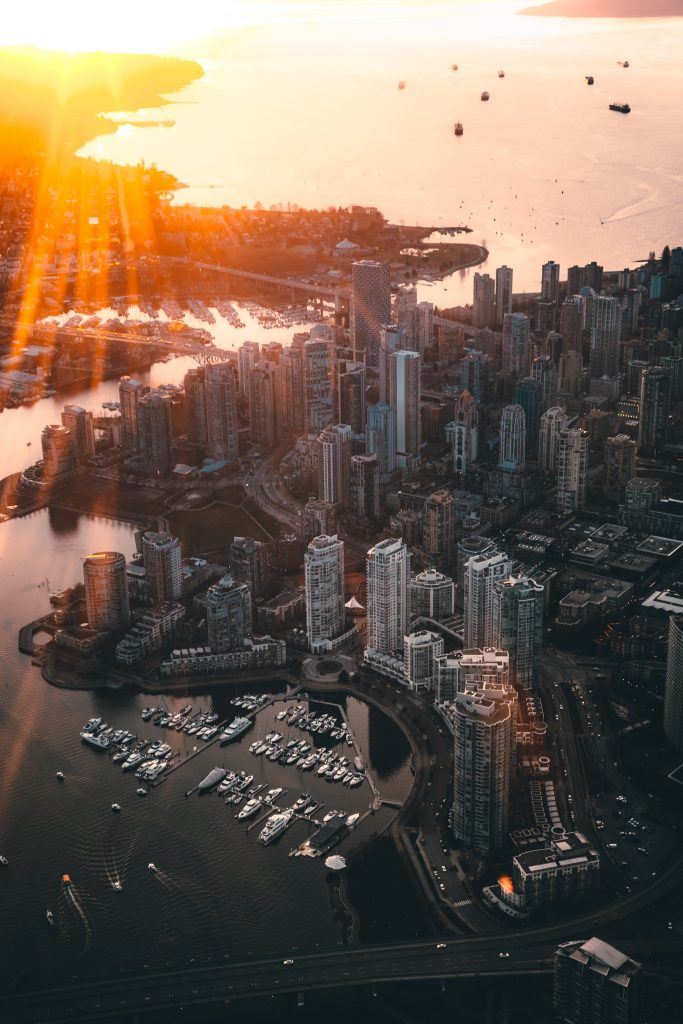 Vancouver city aerial