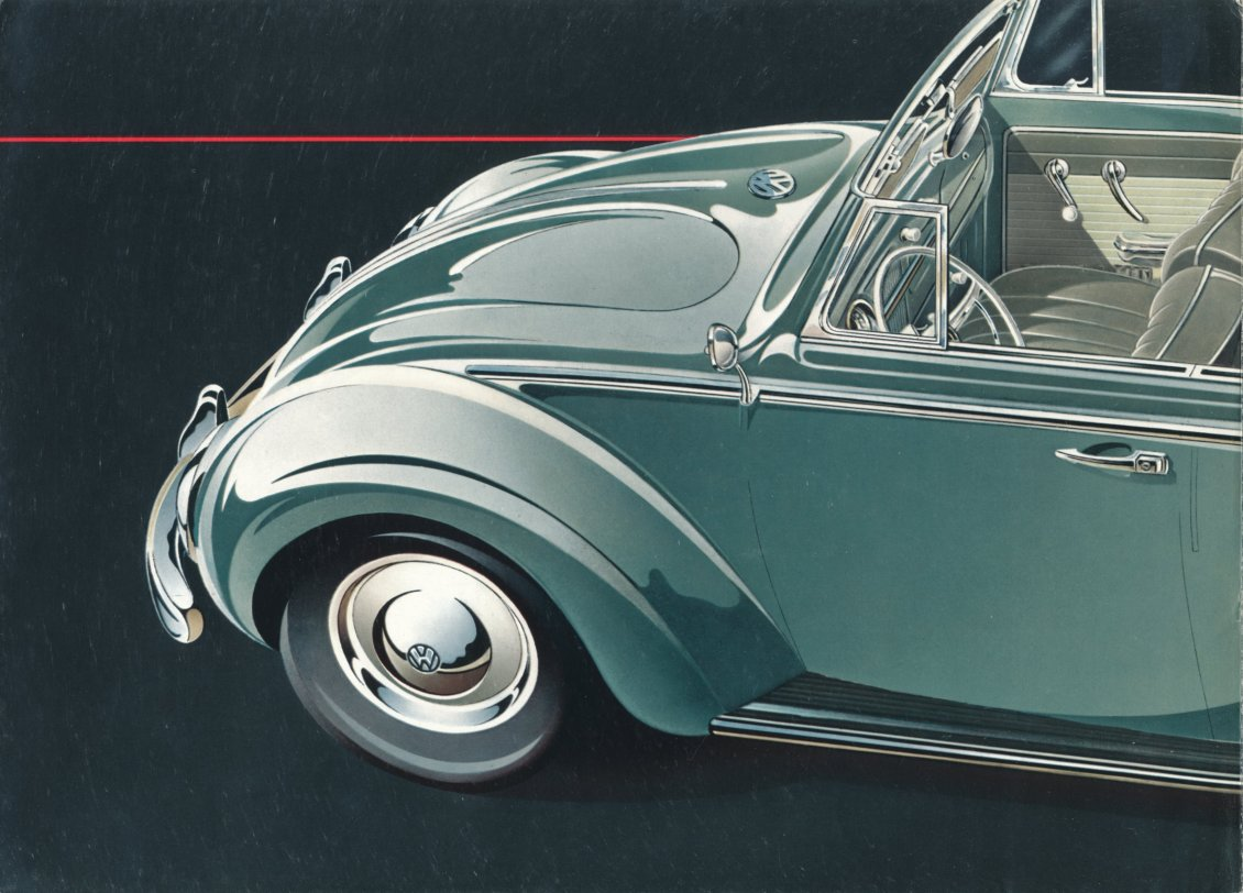 1960 VW Beetle brochure convertible
