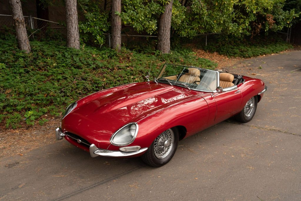 1963 Jaguar XKE pontiac swap front 3/4