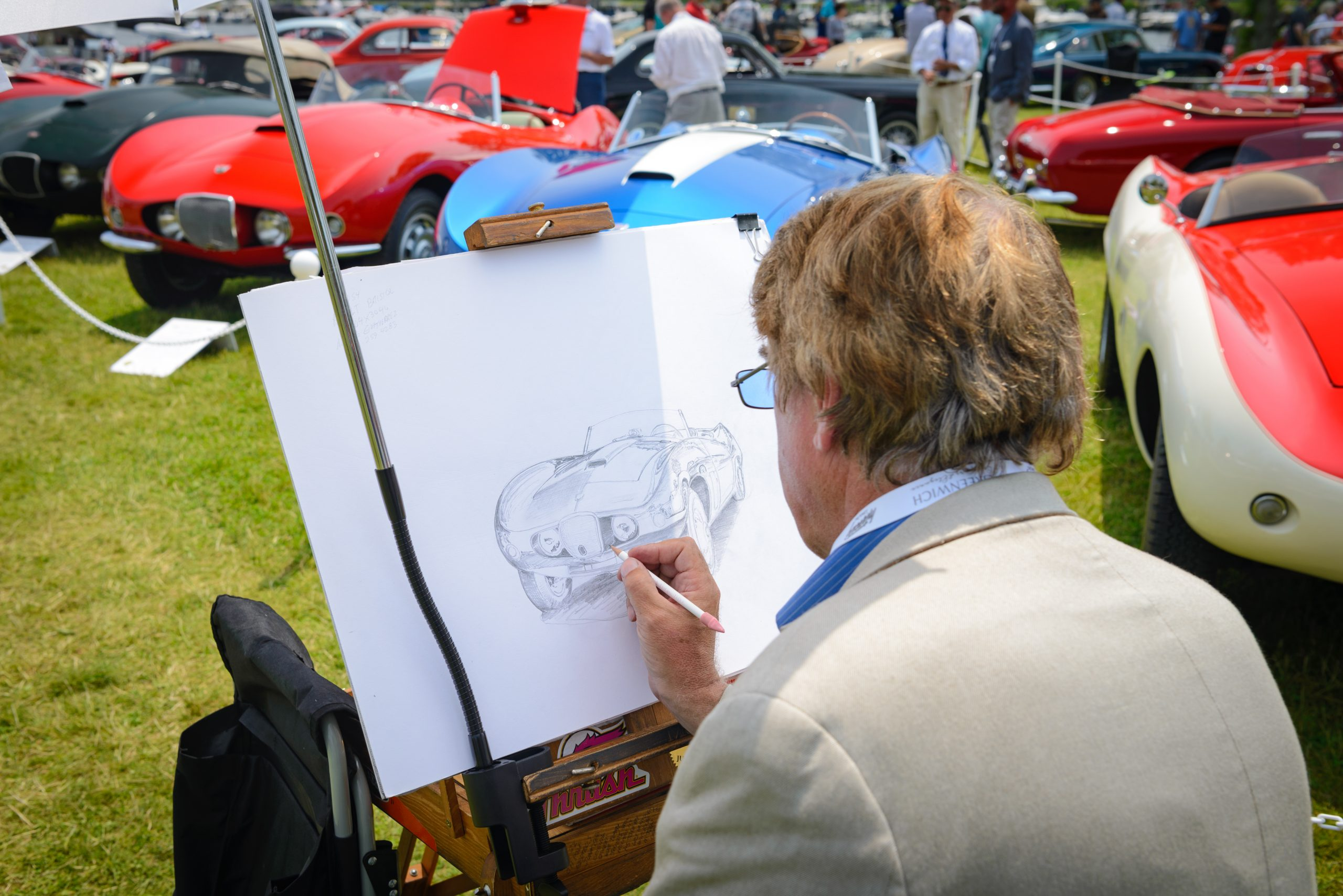 Greenwich concours art drawing