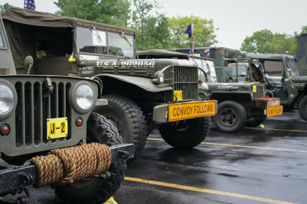 Military vehicle convoy fronts