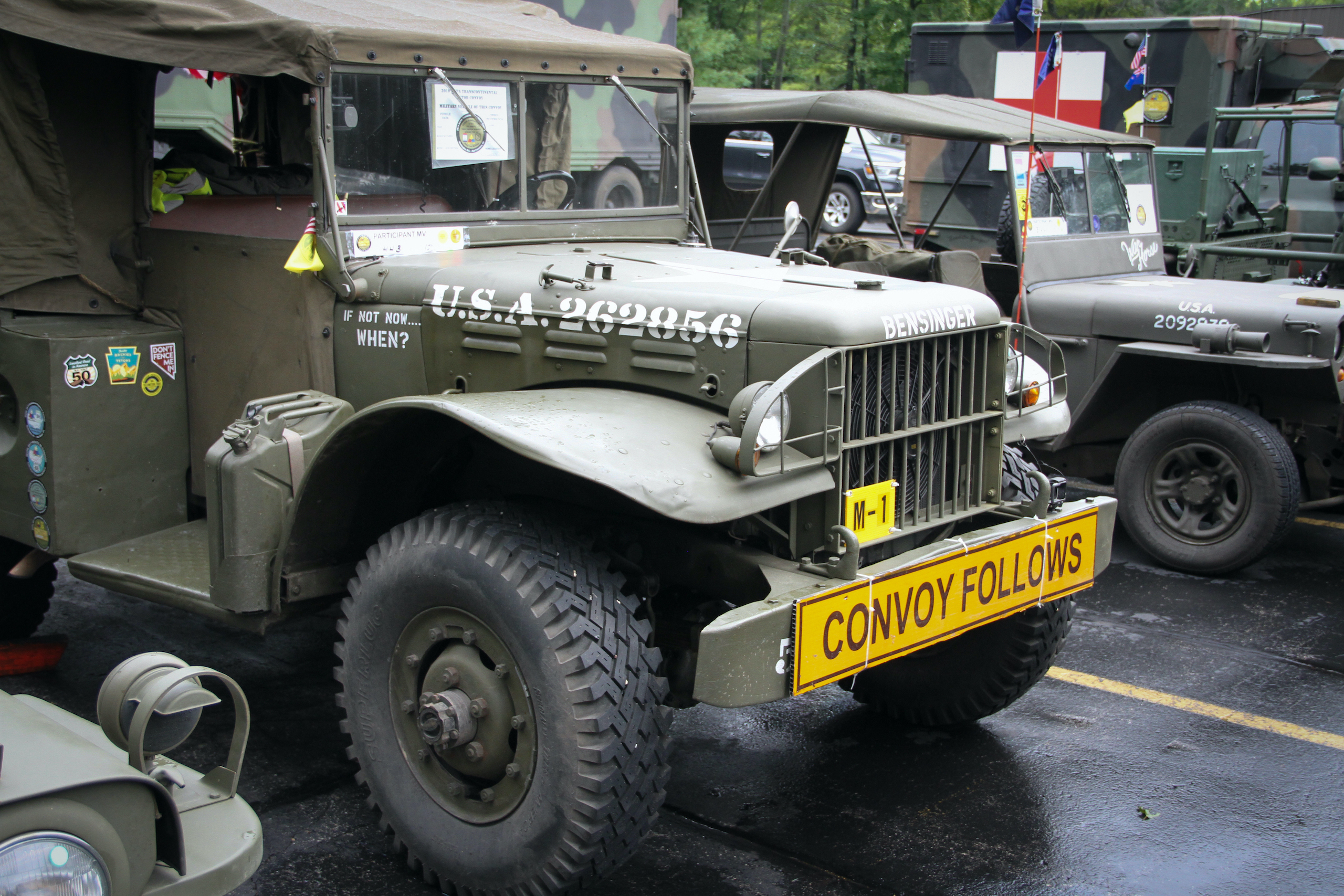Military vehicle convoy bensinger vehicle