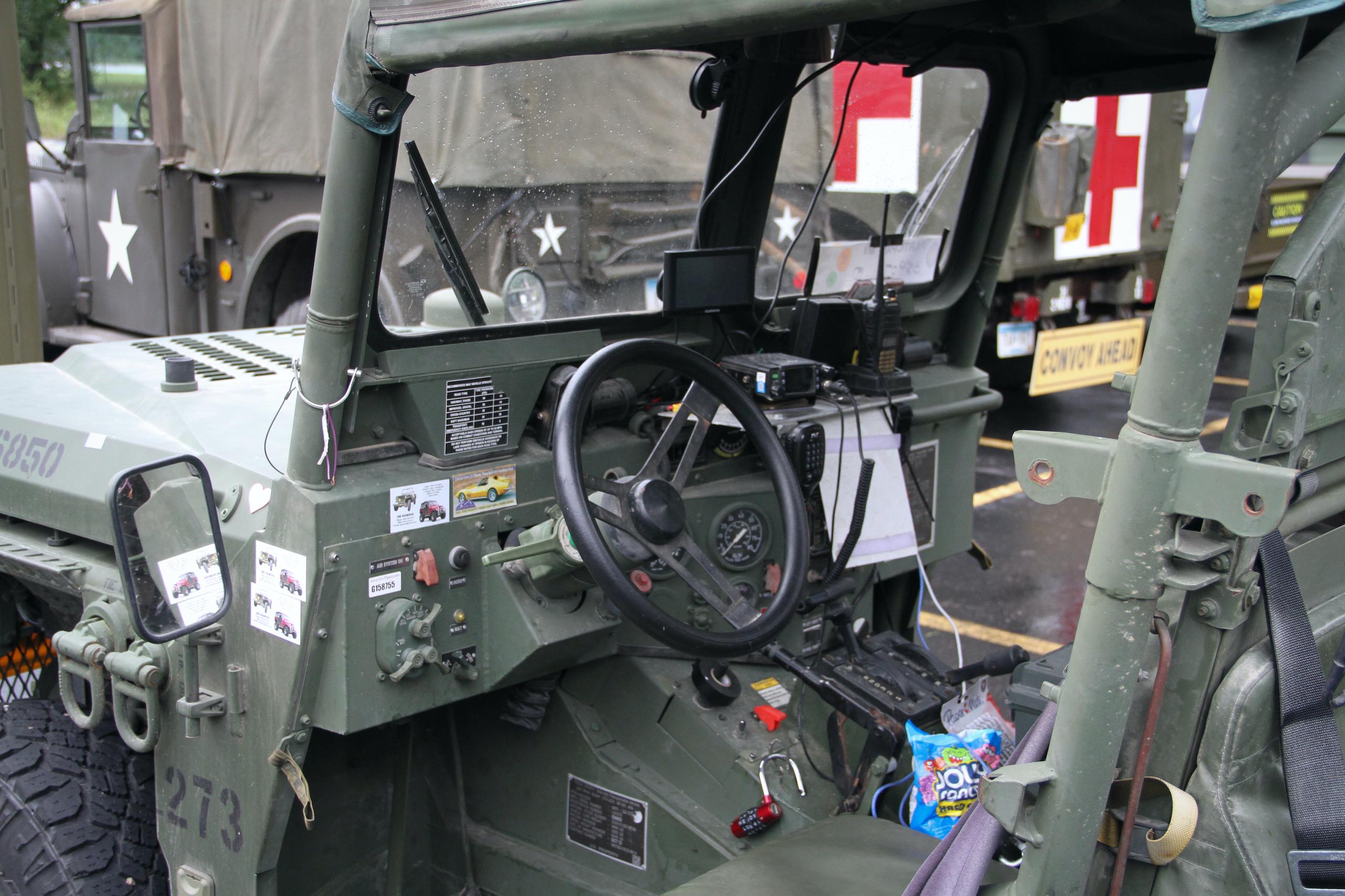 Military vehicle convoy usmc interior