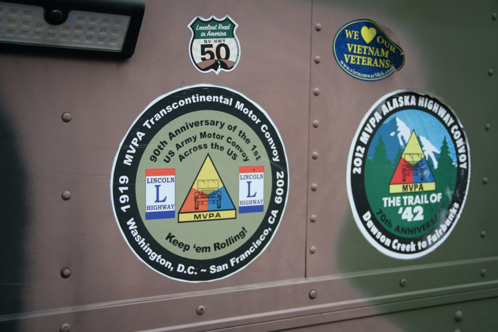 Military vehicle convoy stickers