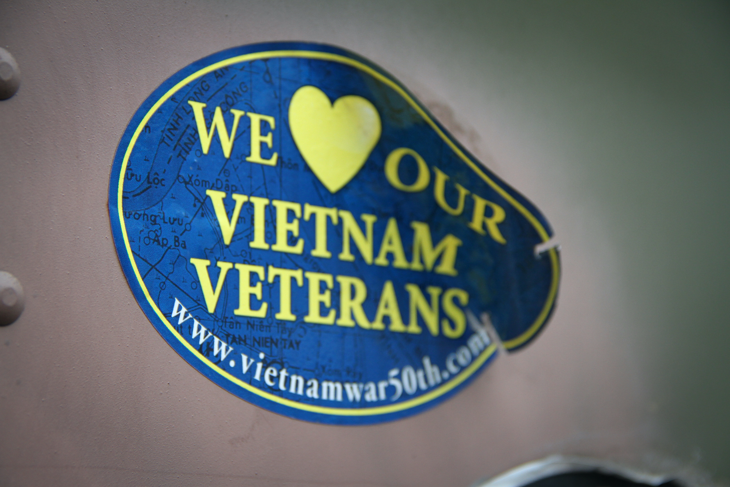 Military vehicle convoy vietnam vets sticker