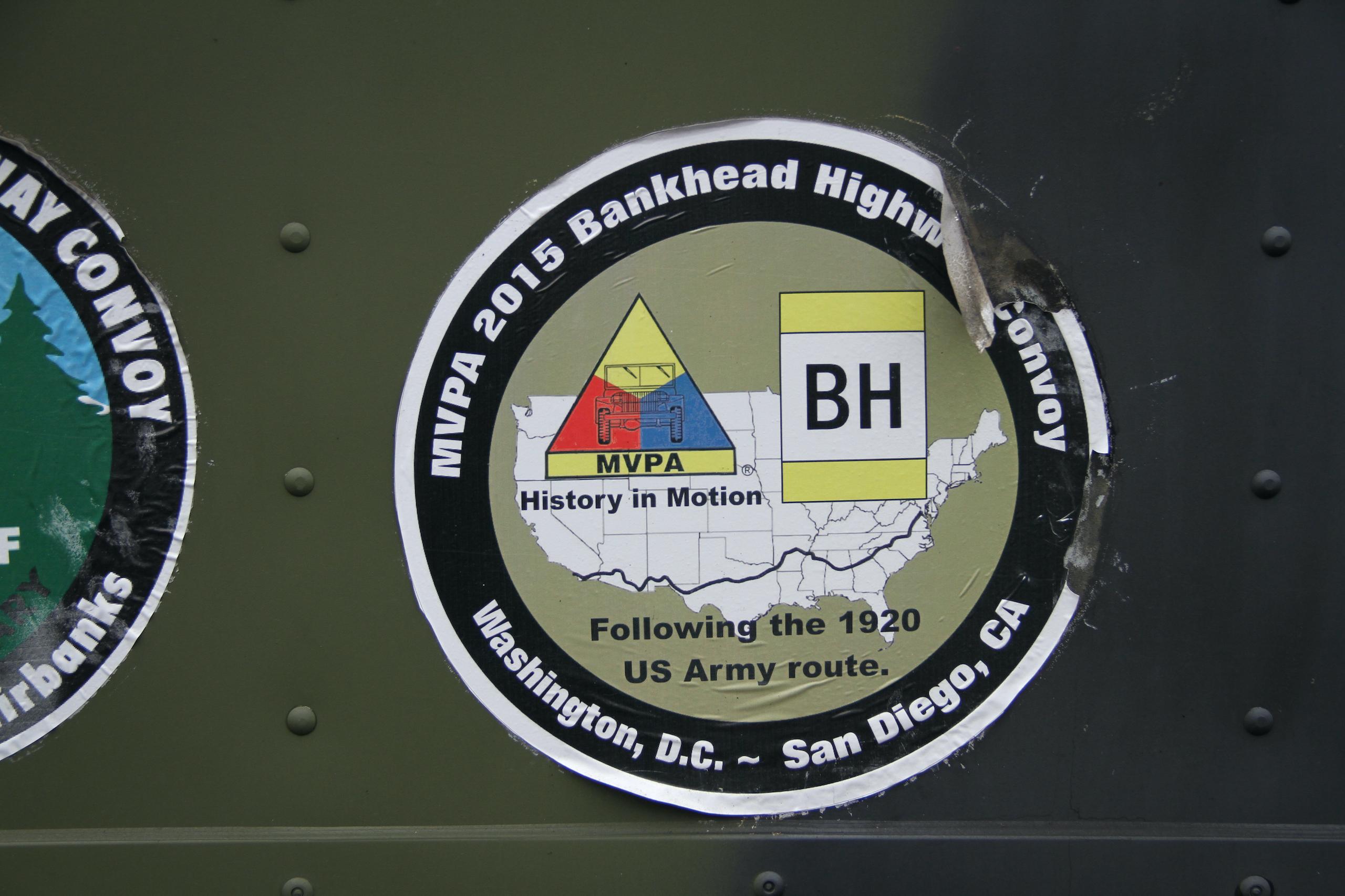 Military vehicle convoy sticker