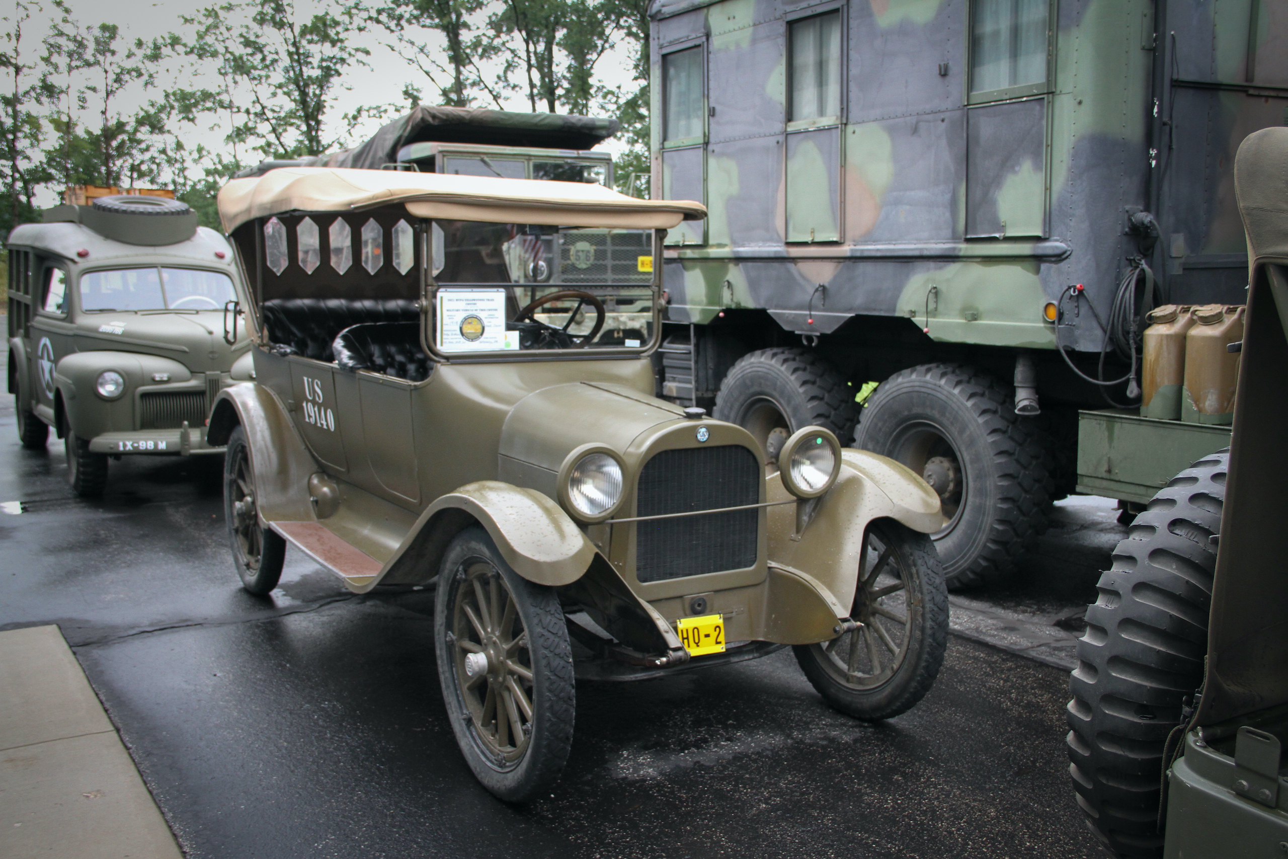 Military vehicle convoy dodge front three-quarter