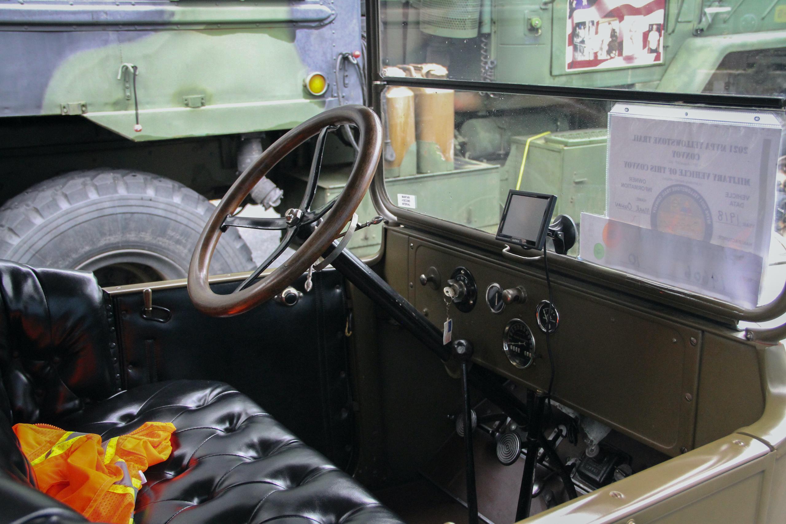 Military vehicle convoy dodge interior