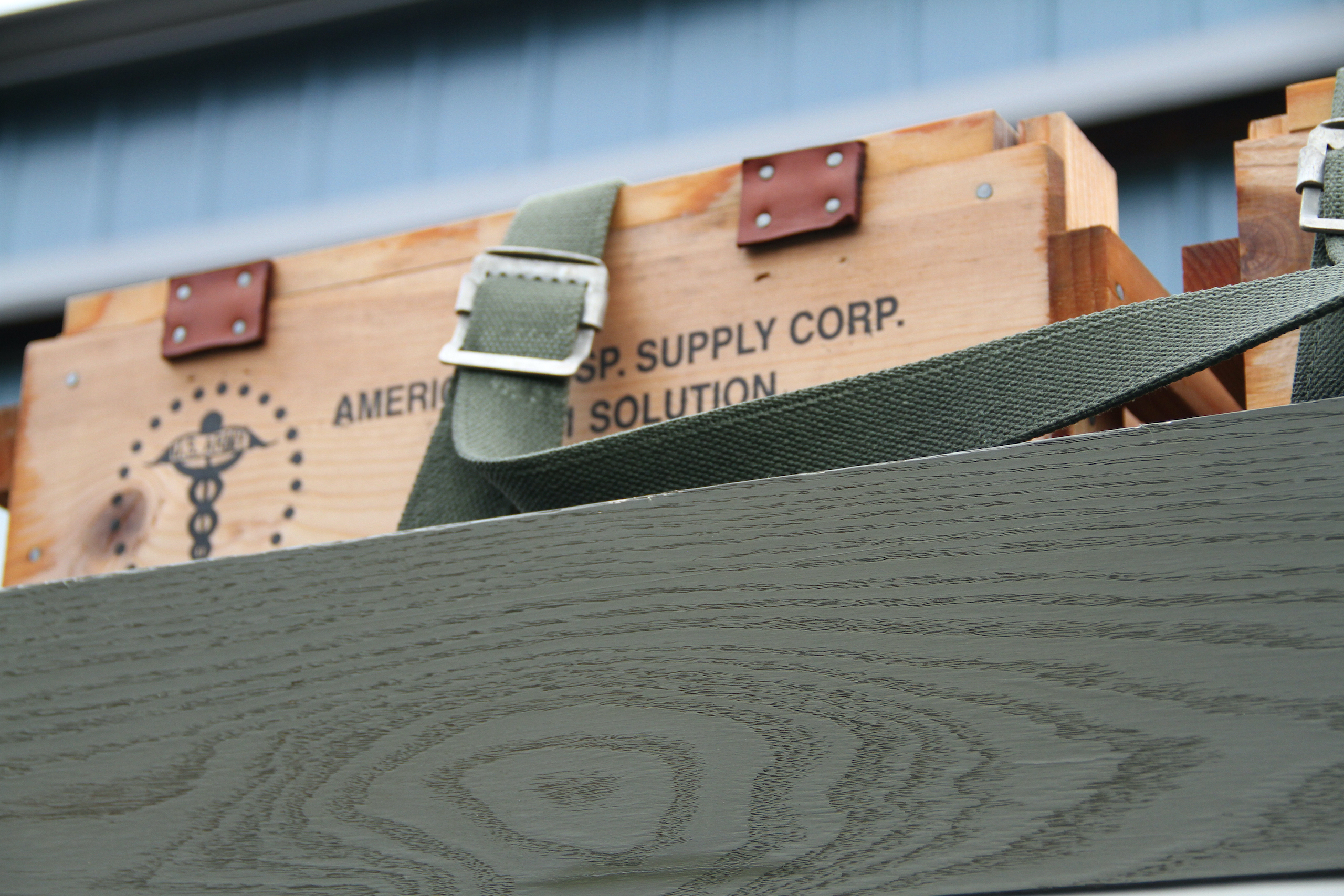 Military vehicle convoy supply boxes