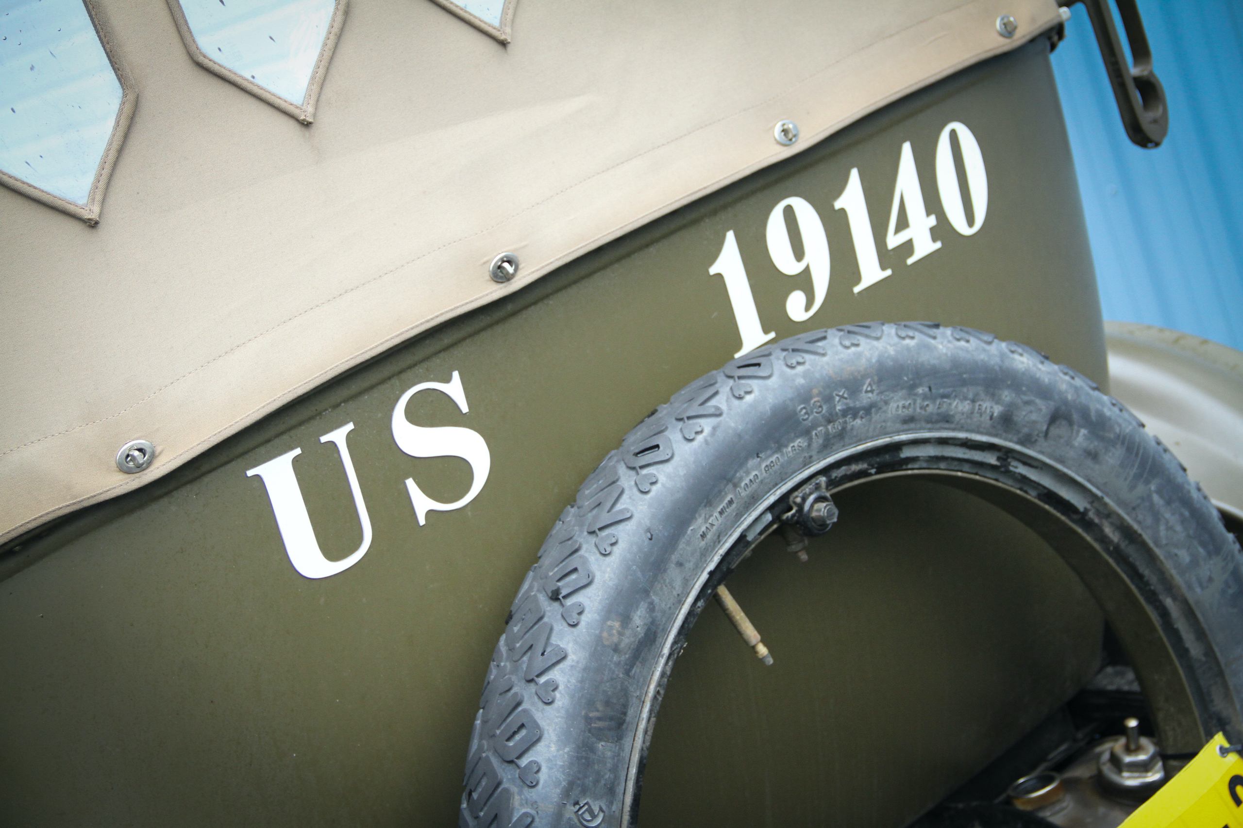 Military vehicle convoy ford rear