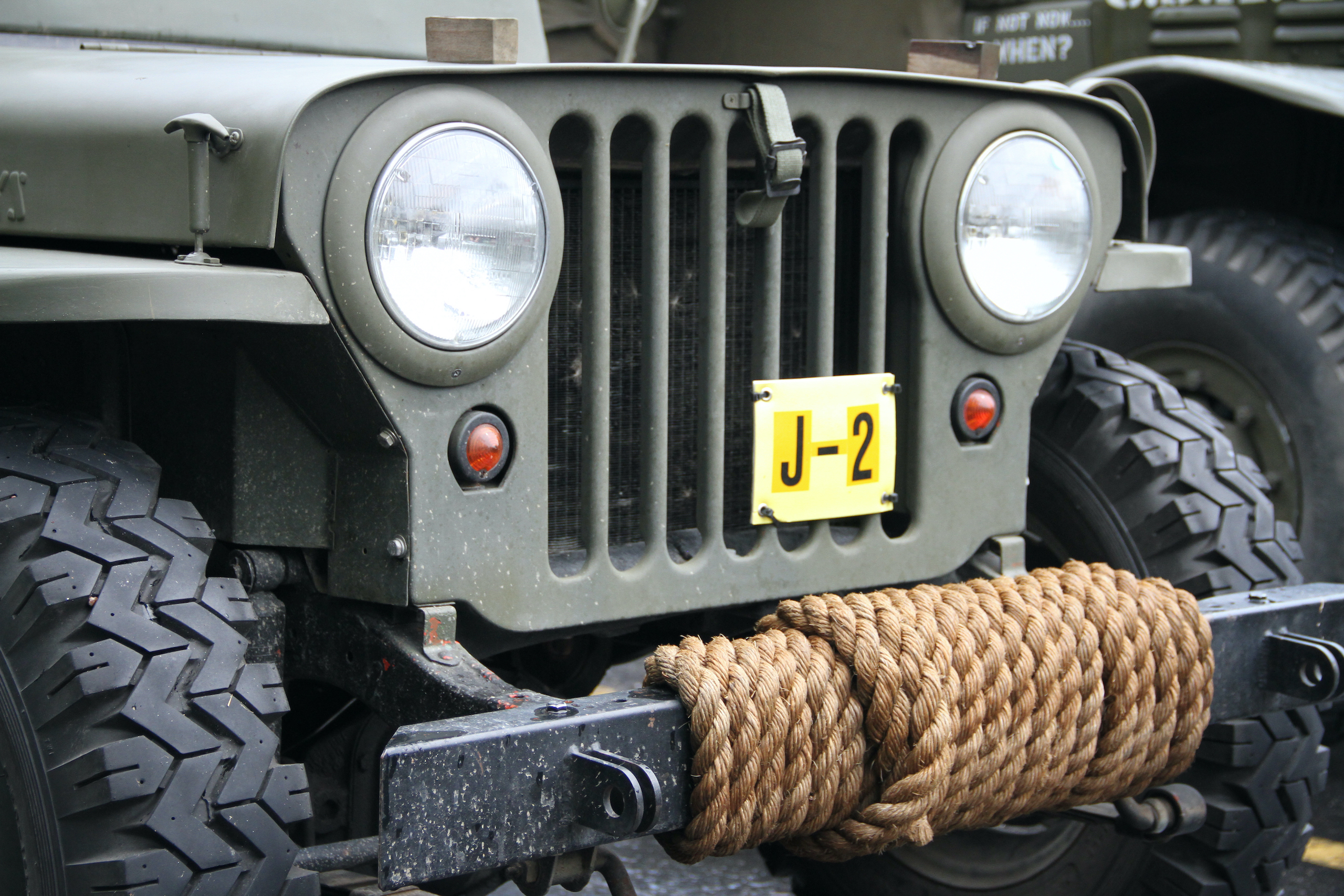 Military vehicle convoy jeep grille