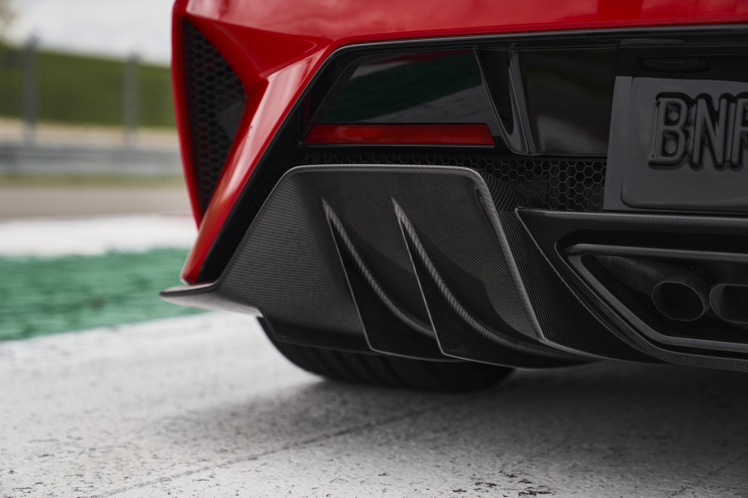 2022 Acura NSX Type S rear carbon fiber aerodynamics